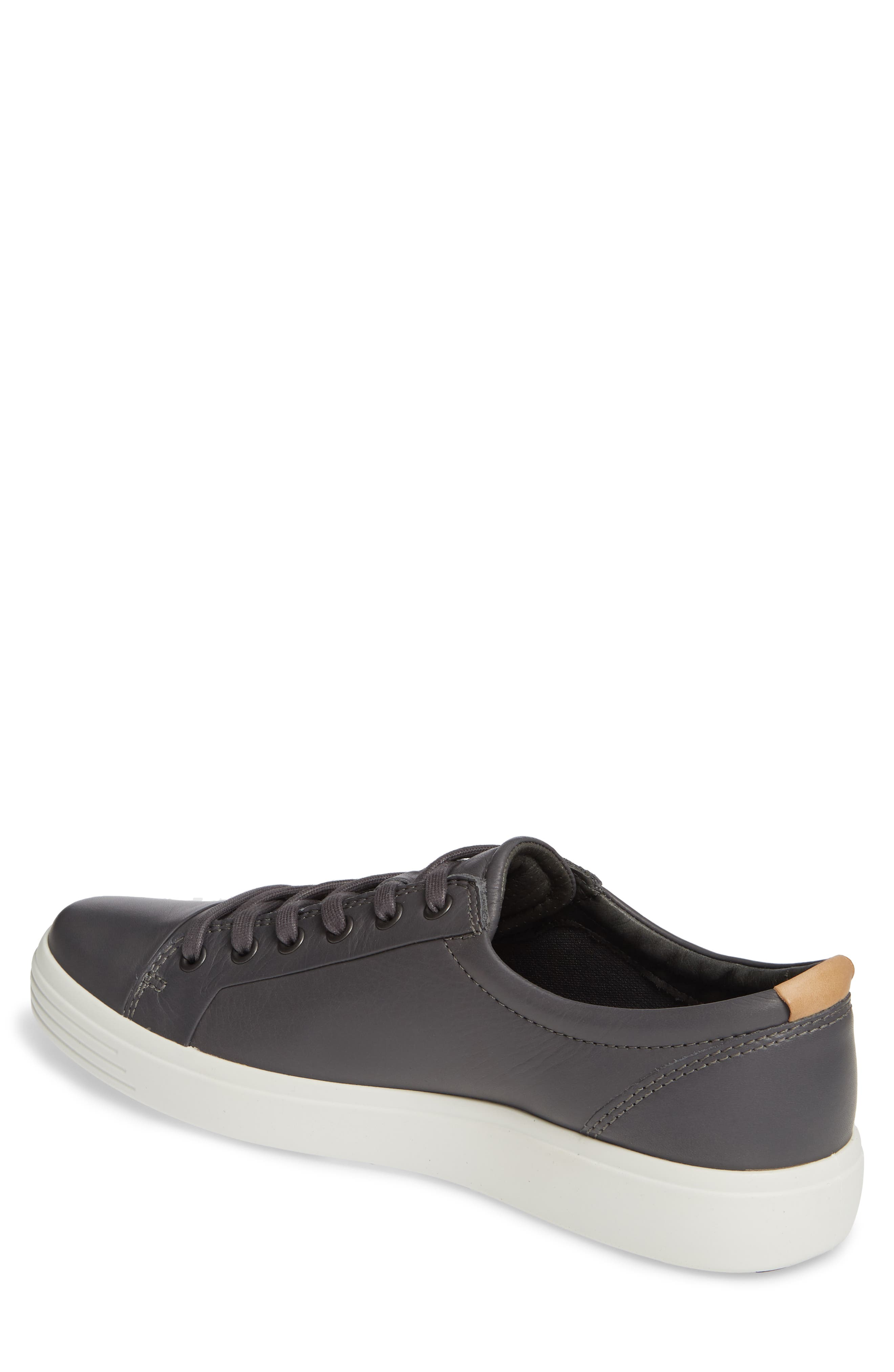 ECCO, Soft VII Lace-Up Sneaker, Alternate thumbnail 2, color, GREY DRAGO