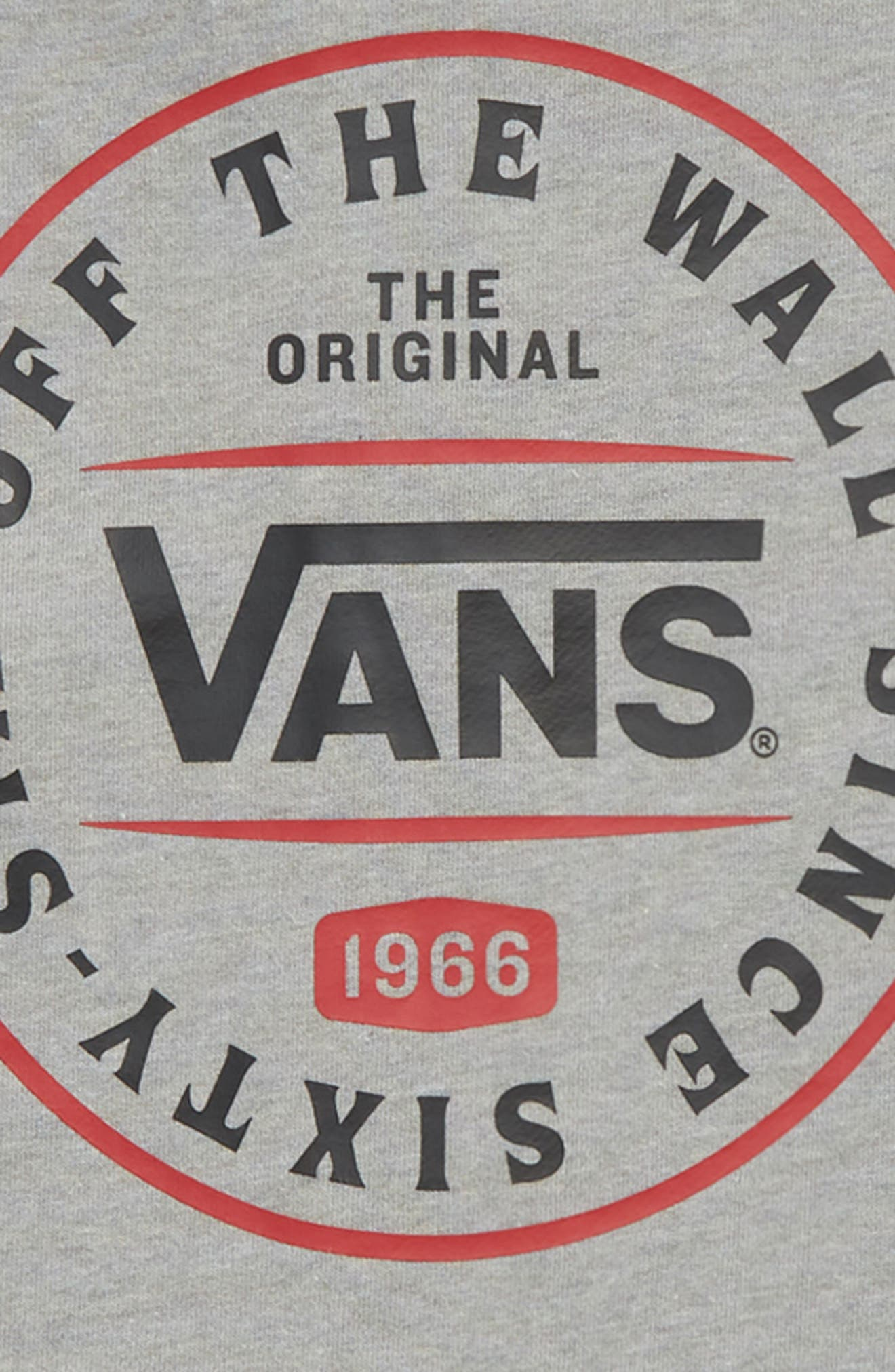 VANS, The Original 66 Zip Hoodie, Alternate thumbnail 3, color, 021
