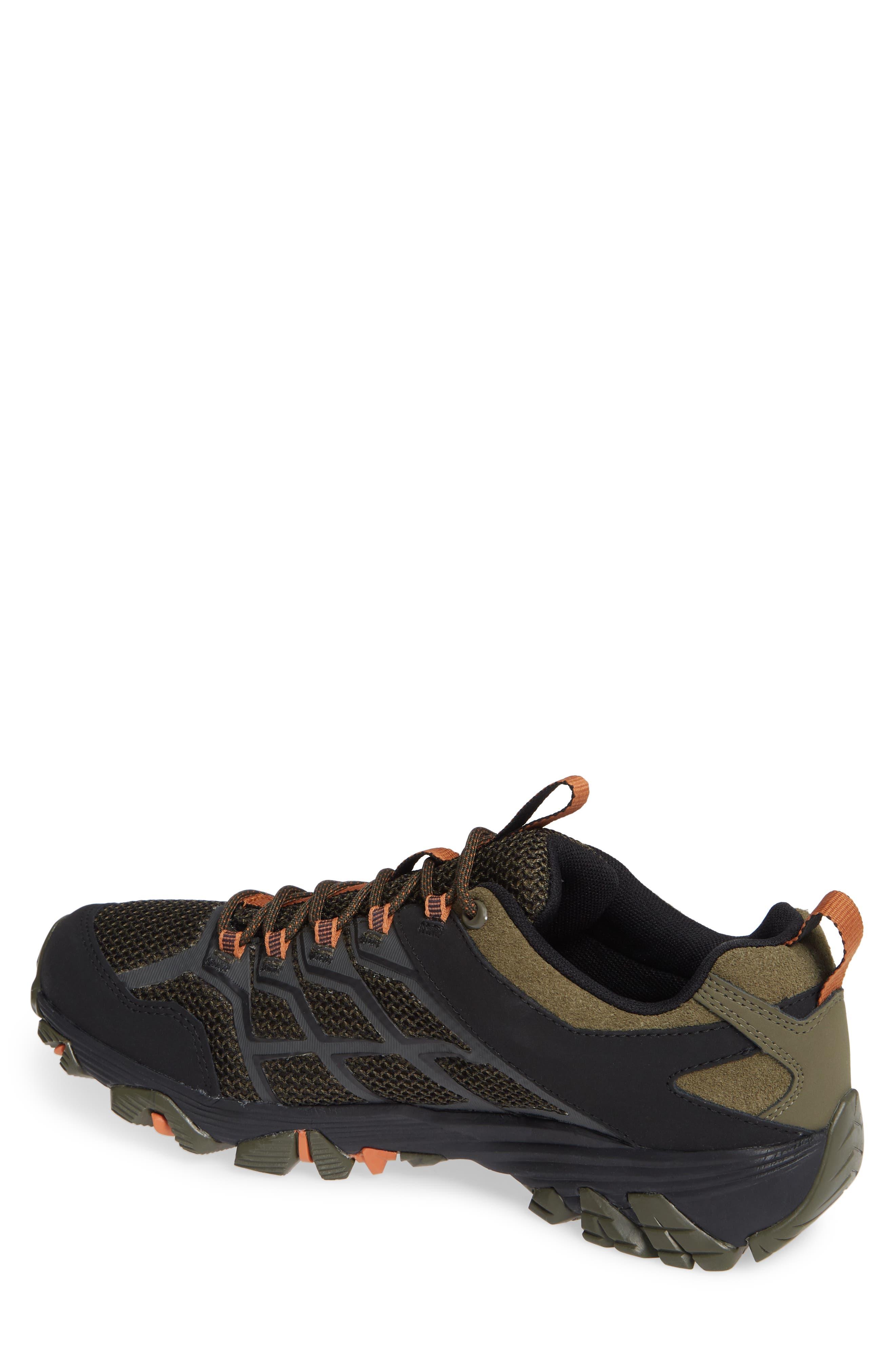 MERRELL, Moab FST 2 Waterproof Hiking Shoe, Alternate thumbnail 2, color, OLIVE/ ADOBE