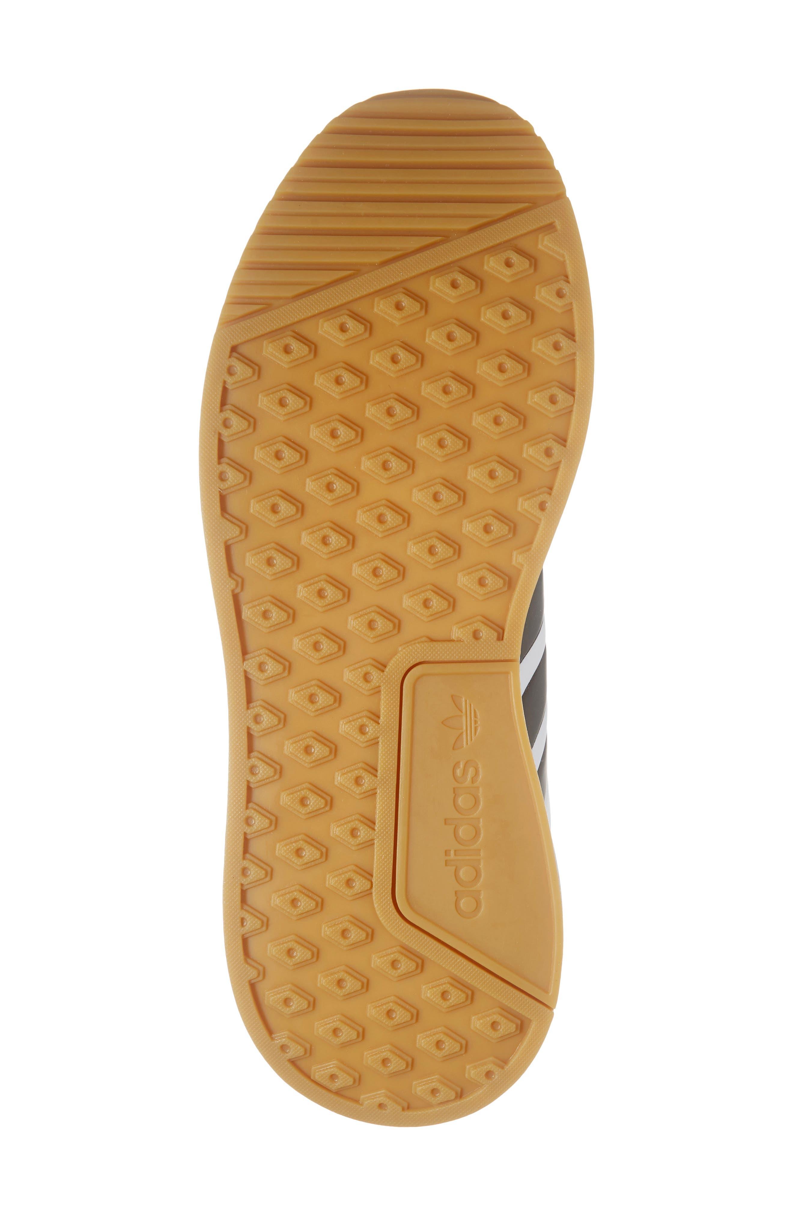 ADIDAS, X_PLR Sneaker, Alternate thumbnail 6, color, WHITE/ CORE BLACK/ GUM