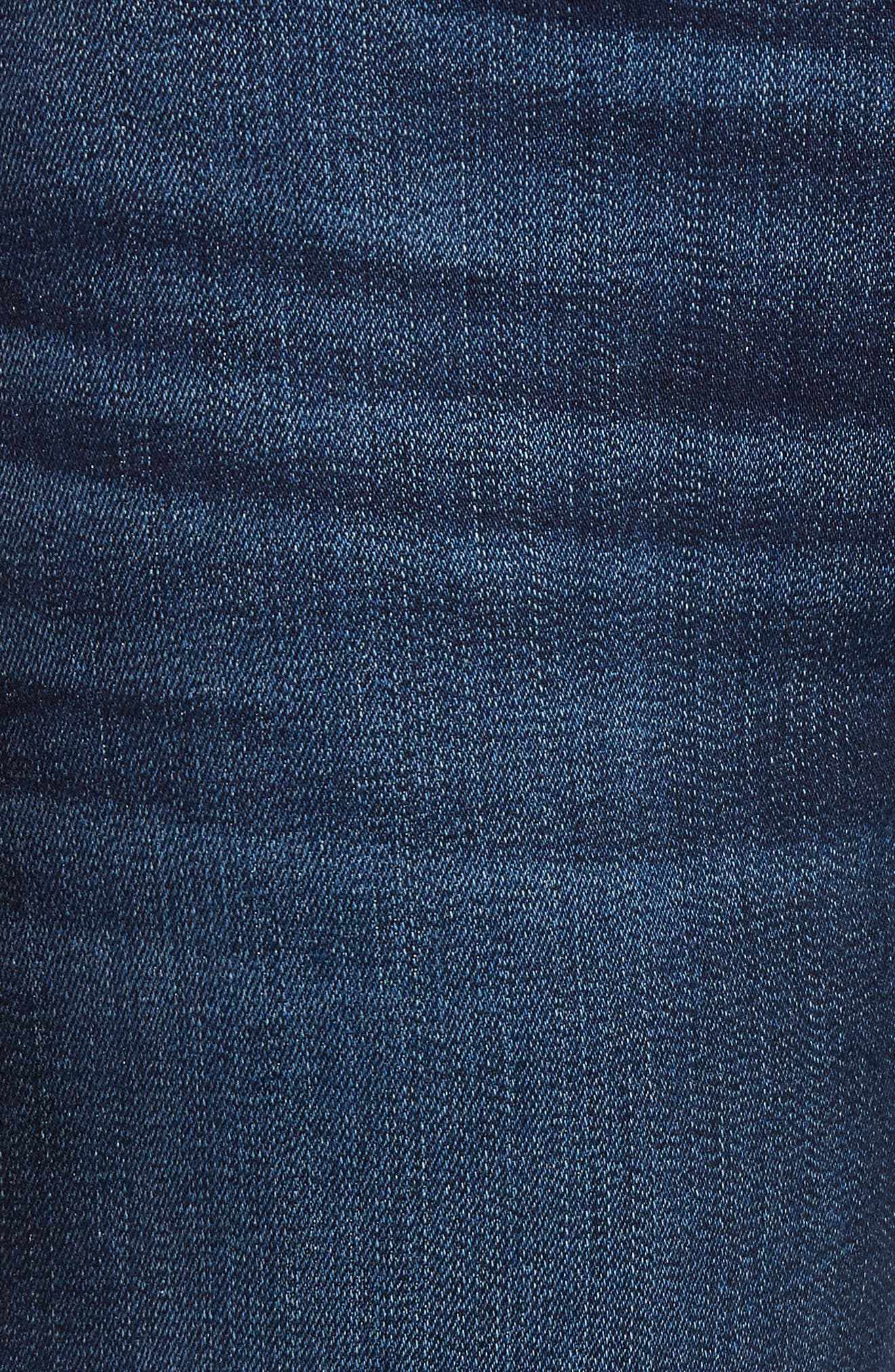 7 FOR ALL MANKIND<SUP>®</SUP>, b(air) Kimmie Straight Leg Jeans, Alternate thumbnail 6, color, AUTHENTIC FATE