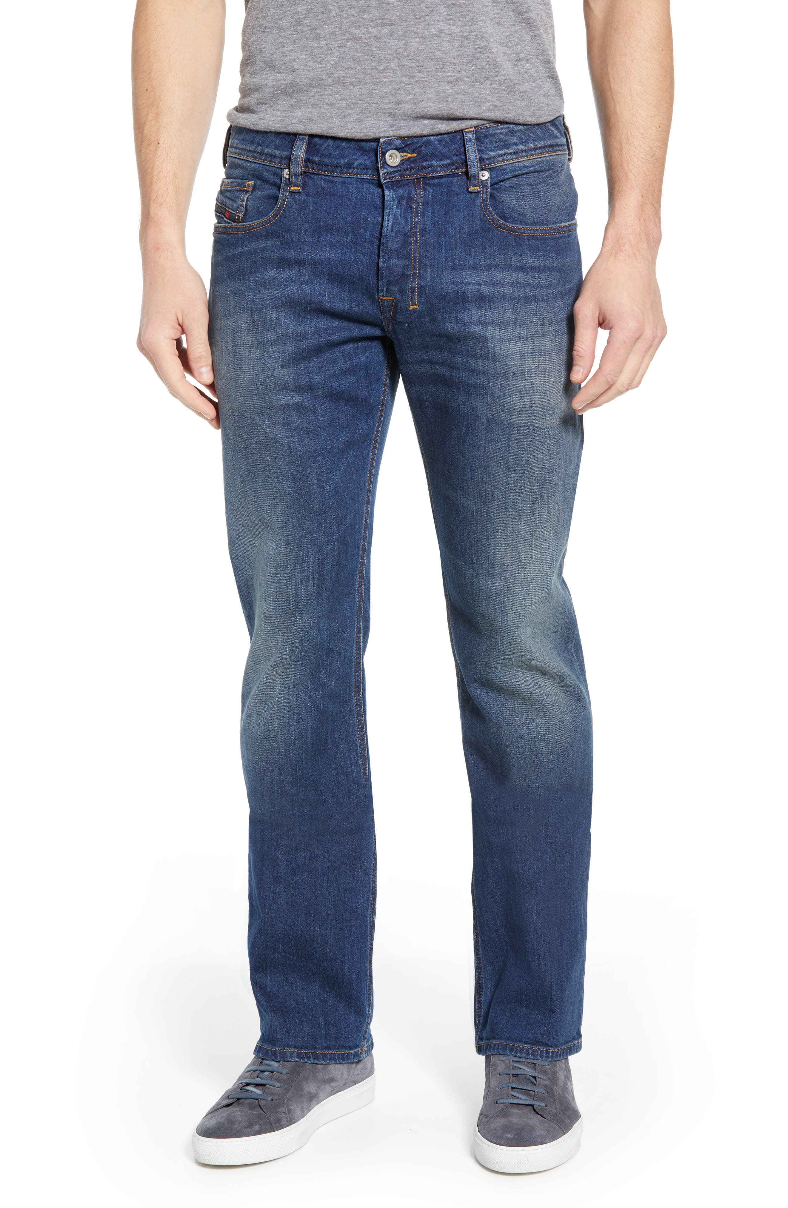 DIESEL<SUP>®</SUP> Zatiny Bootcut Jeans, Main, color, DENIM