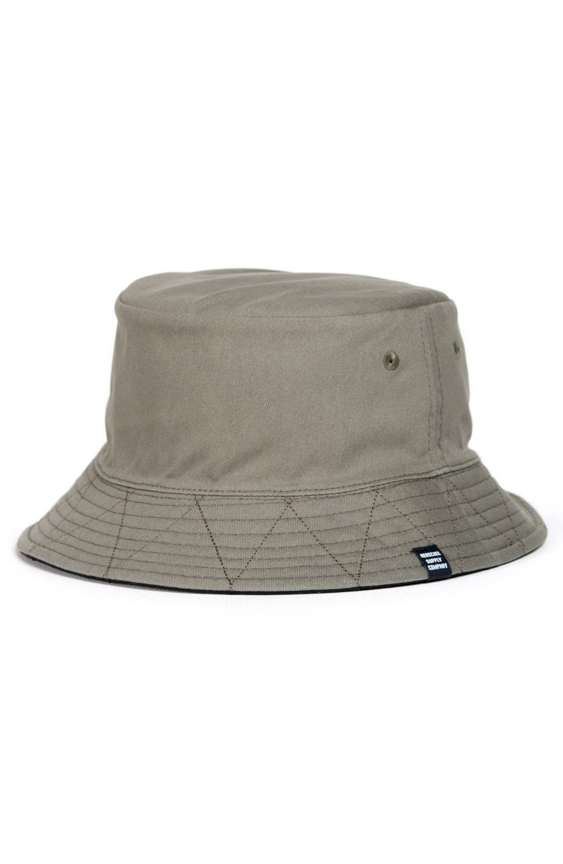 HERSCHEL SUPPLY CO., 'Lake' Bucket Hat, Alternate thumbnail 3, color, 009