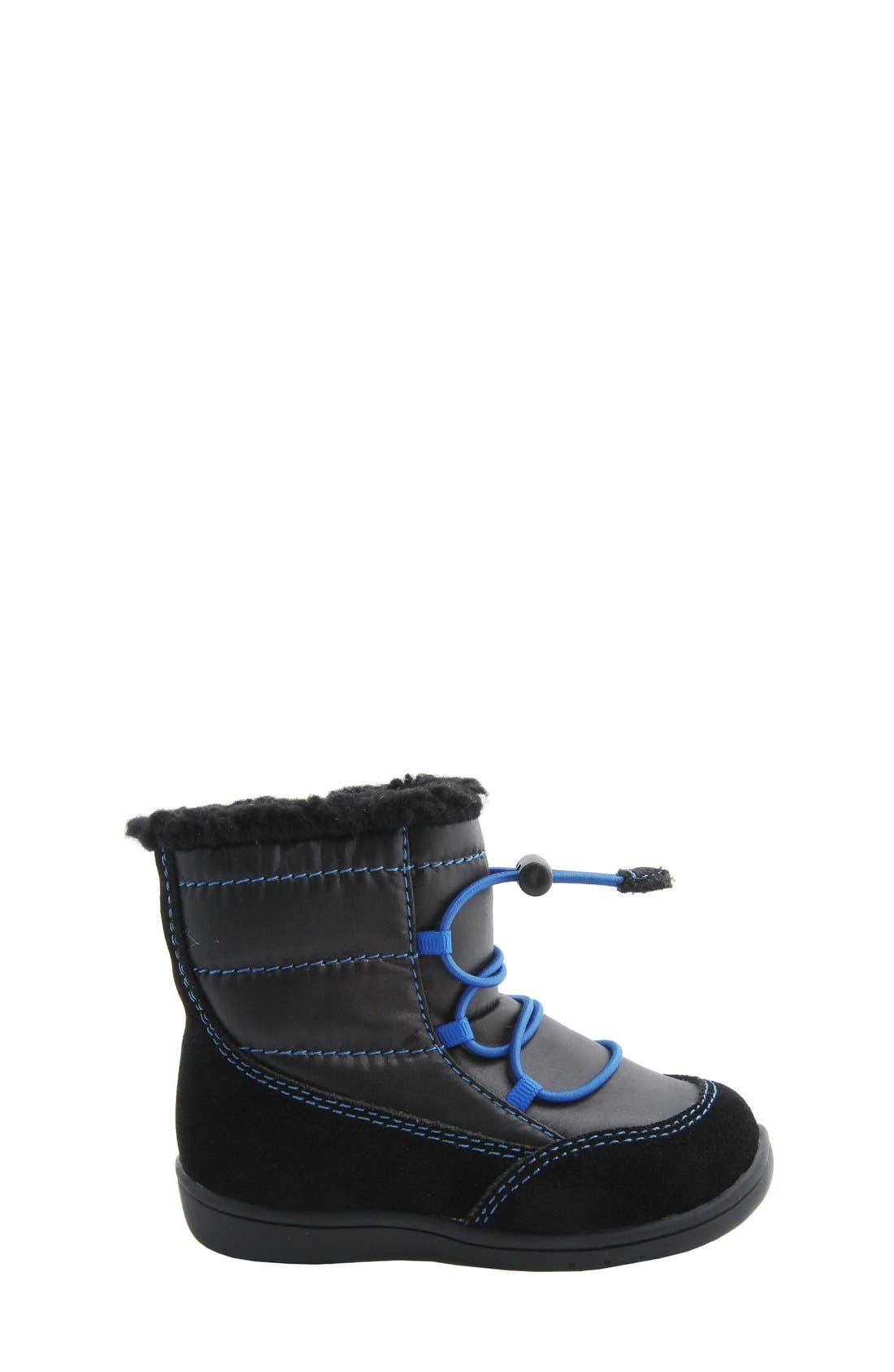 MOBILITY, Nina 'Yolie' Lace-Up Boot, Alternate thumbnail 5, color, BLACK