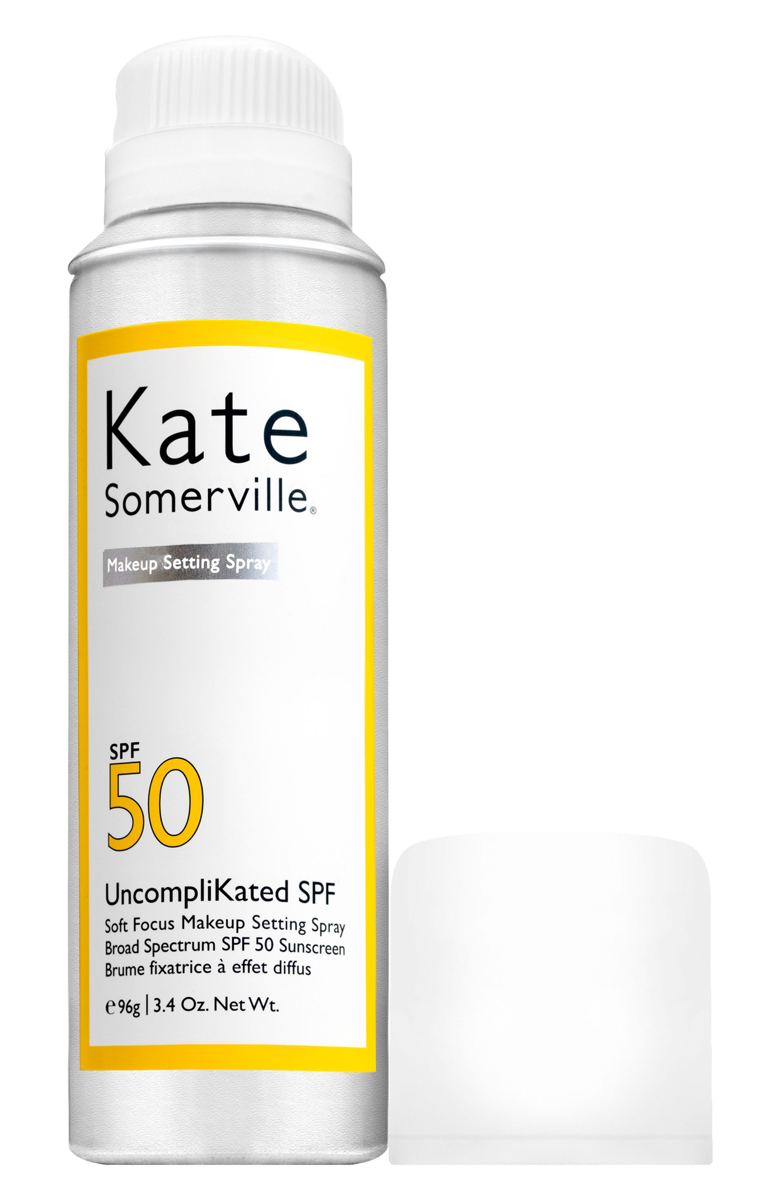 KATE SOMERVILLE<SUP>®</SUP>, UncompliKated SPF Makeup Setting Spray SPF 50, Alternate thumbnail 4, color, NO COLOR