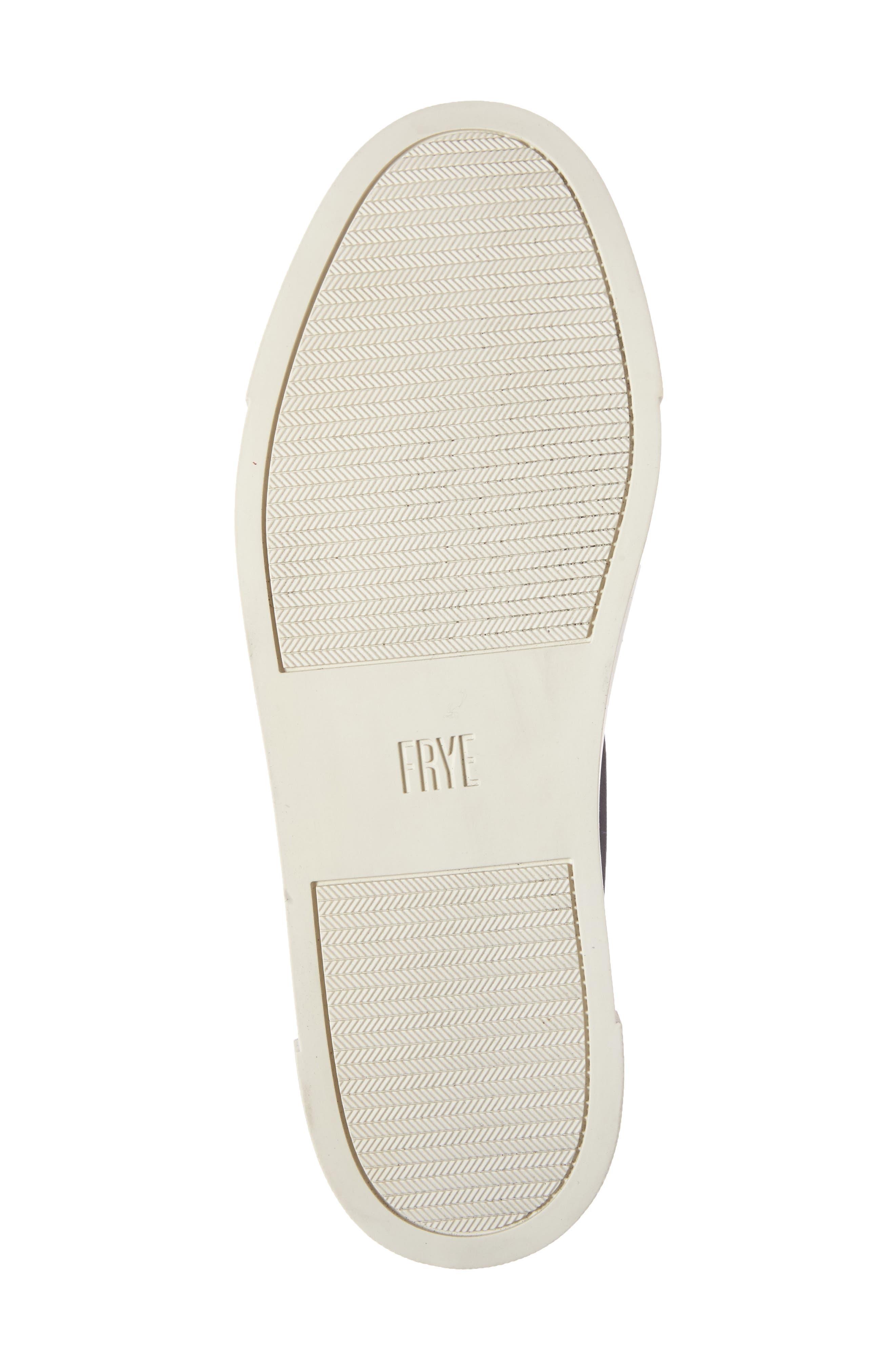 FRYE, Ivy Slip-On Sneaker, Alternate thumbnail 4, color, BLACK/ BLACK