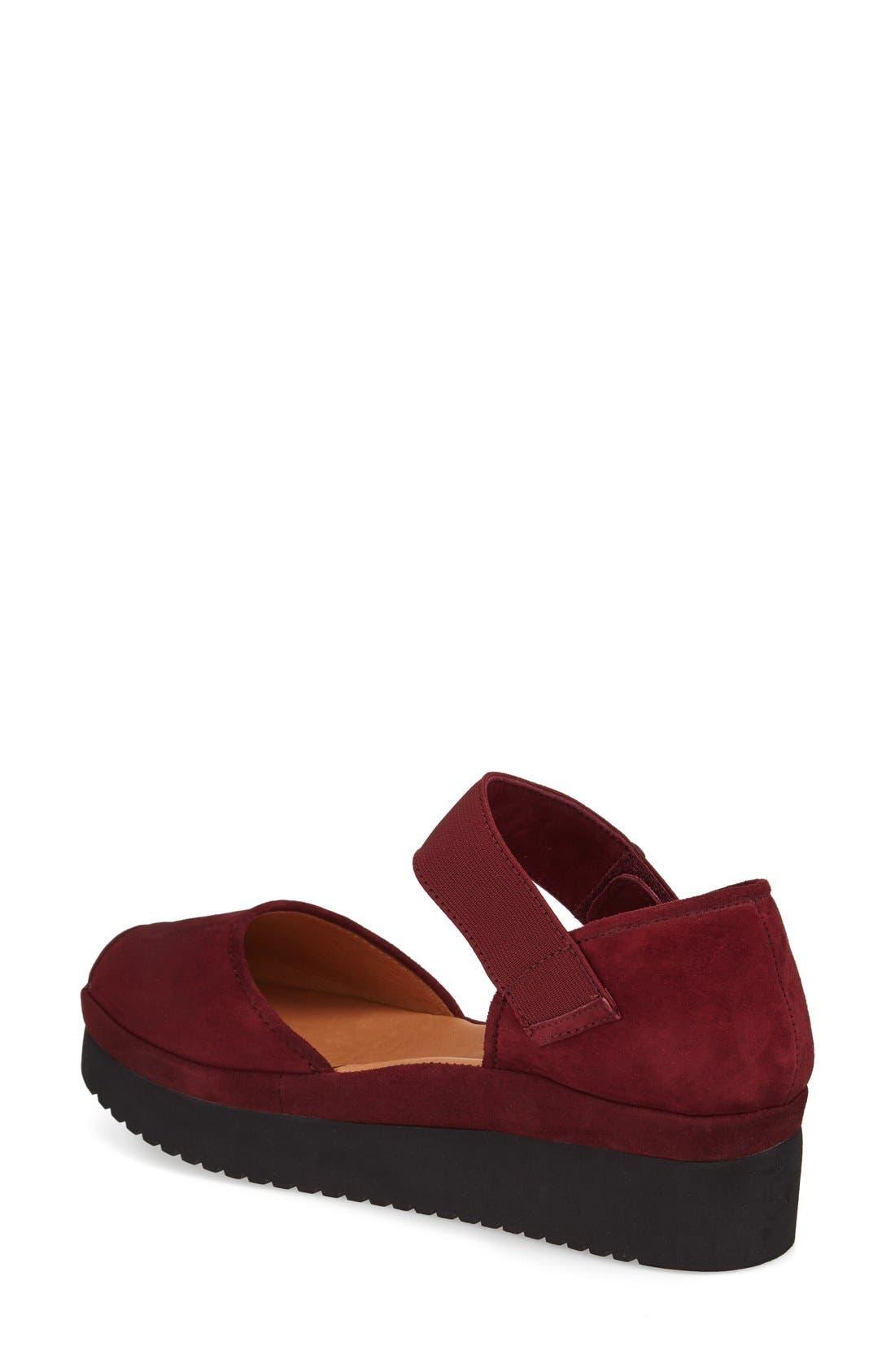 L'AMOUR DES PIEDS, 'Amadour' Platform Sandal, Alternate thumbnail 2, color, MULBERRY SUEDE LEATHER