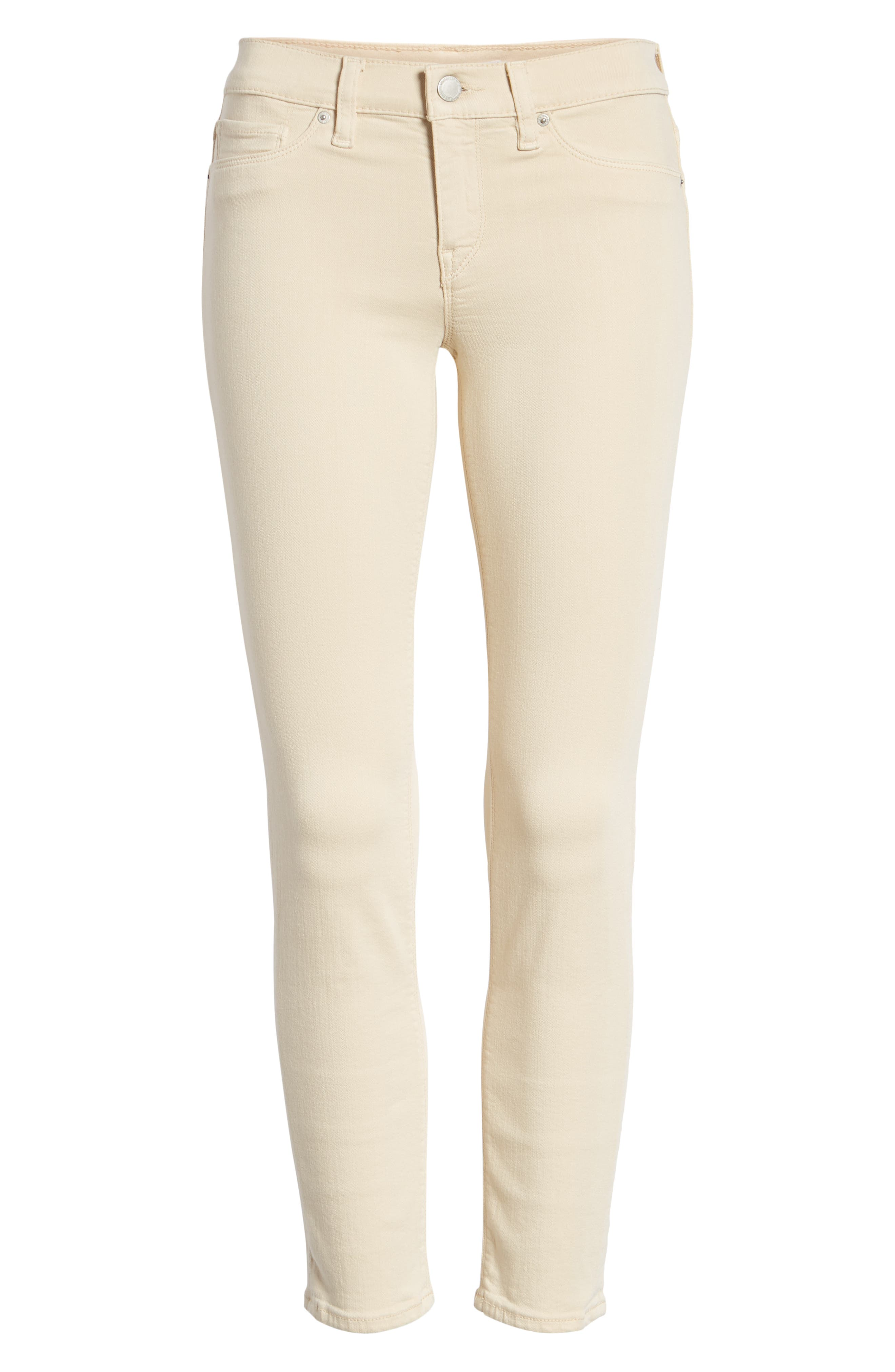 HUDSON JEANS, Tally Ankle Skinny Jeans, Alternate thumbnail 7, color, FAWN