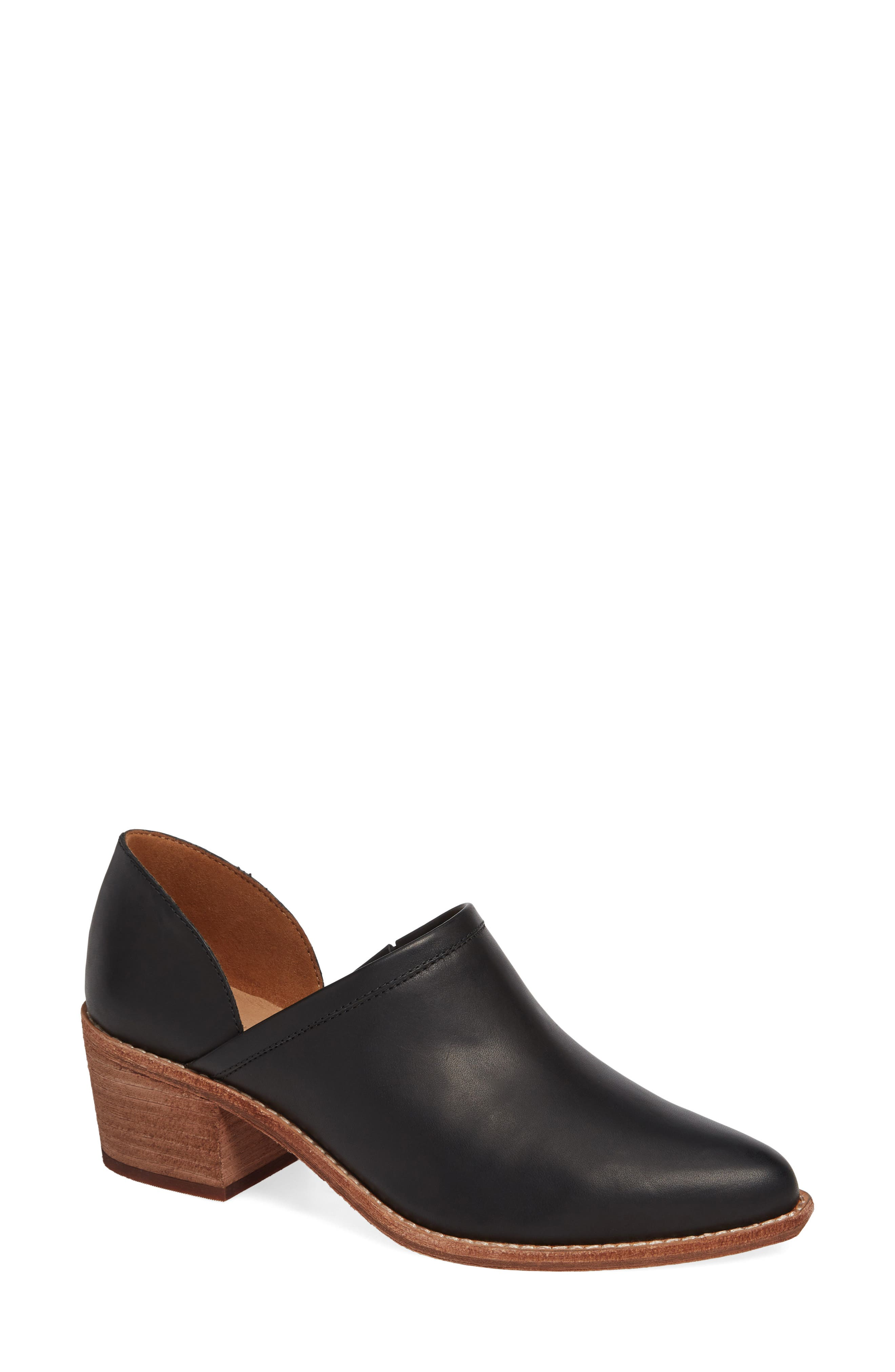 MADEWELL, The Brady Block Heel Bootie, Main thumbnail 1, color, TRUE BLACK LEATHER