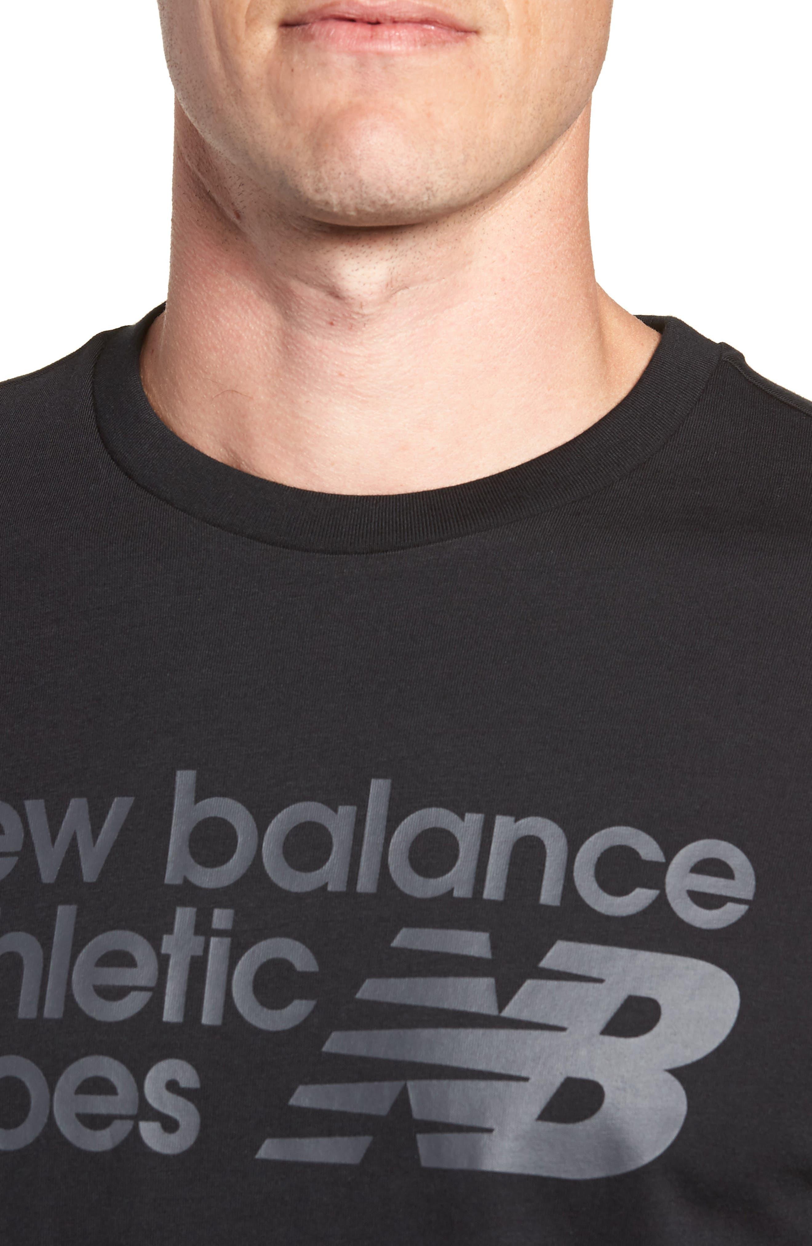 NEW BALANCE, NB Shoe Box Graphic T-Shirt, Alternate thumbnail 4, color, BLACK