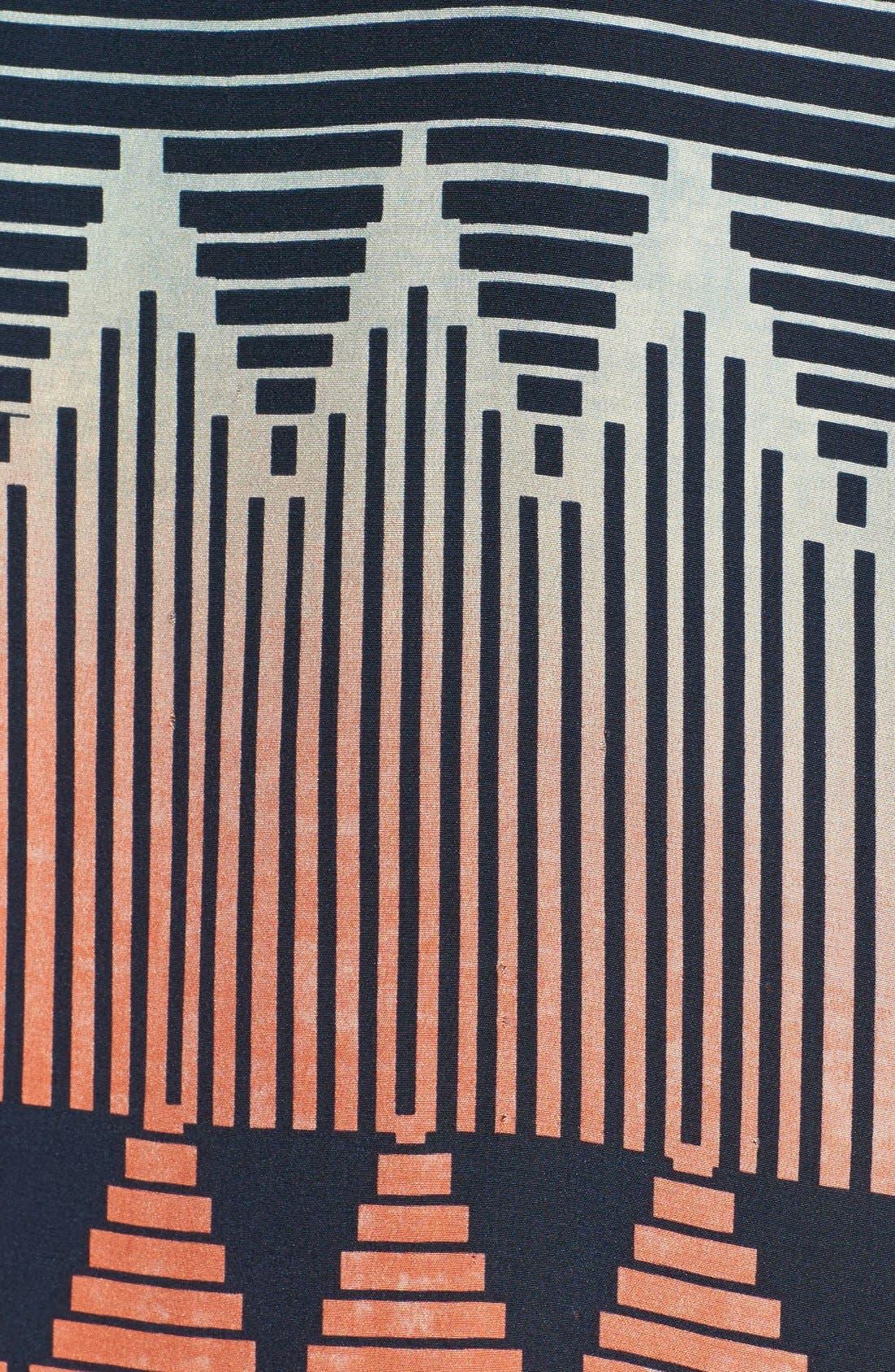 PARKER, 'Hailo' Crop Print Silk Shirt, Alternate thumbnail 2, color, 400