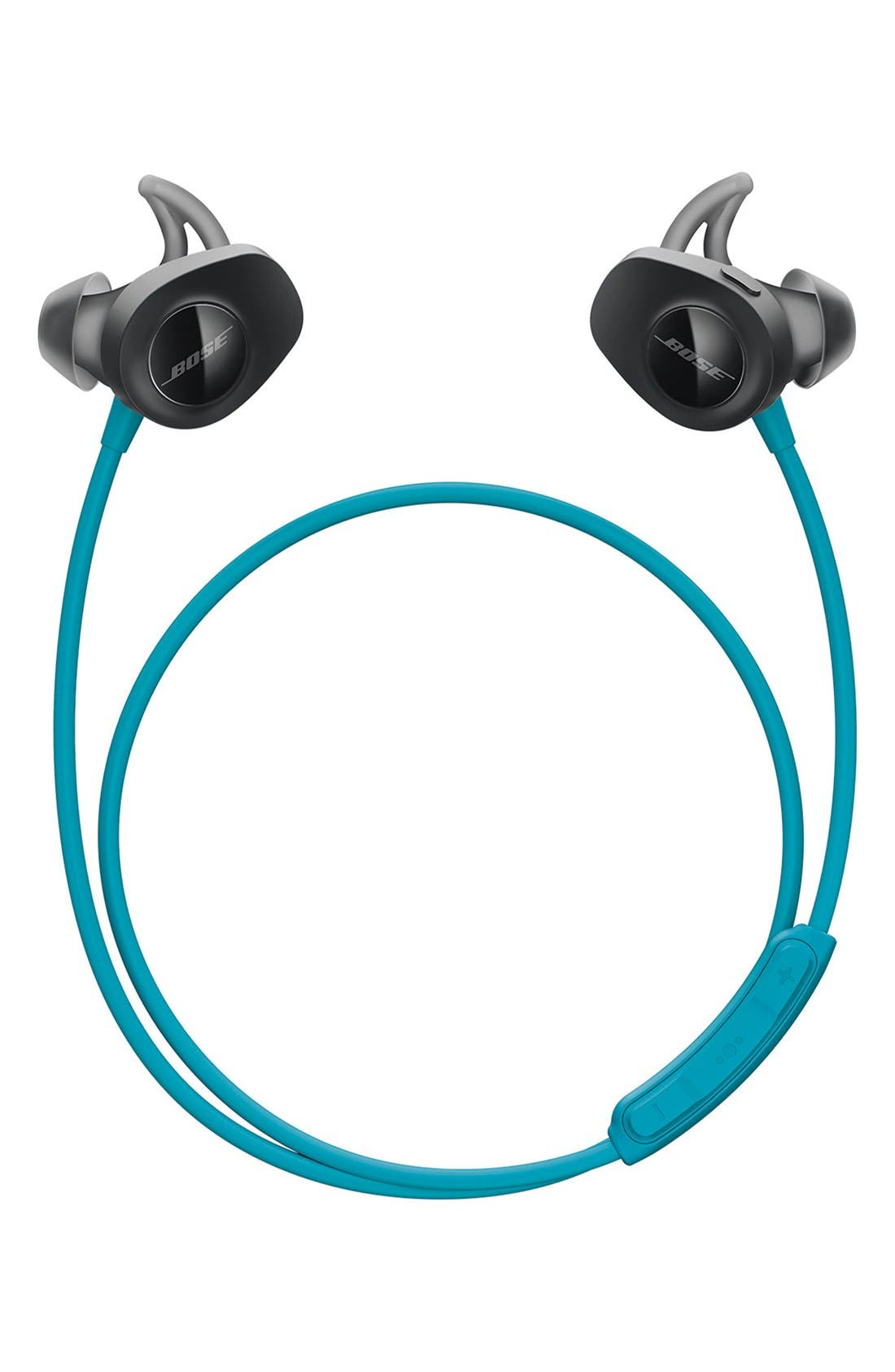 BOSE<SUP>®</SUP>, SoundSport<sup>®</sup> Wireless Headphones, Alternate thumbnail 7, color, AQUA