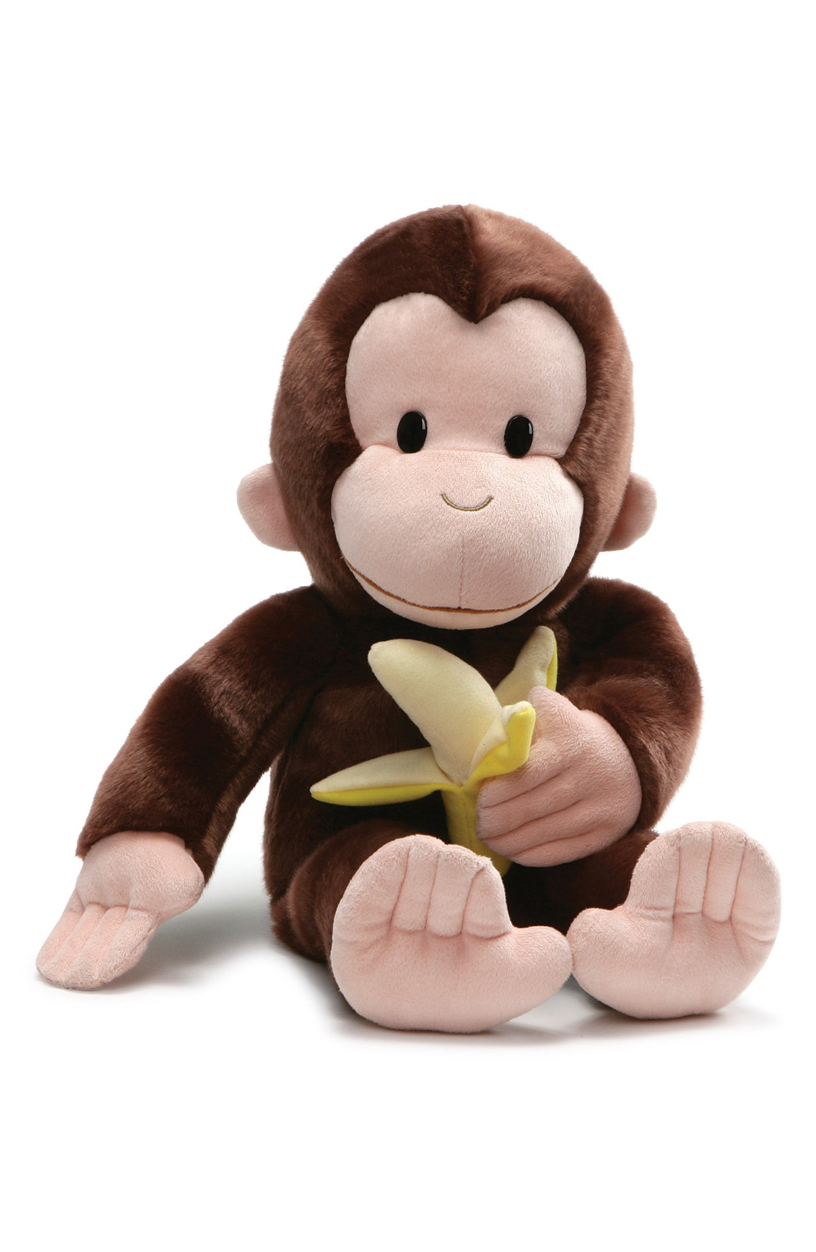 GUND, Curious George<sup>®</sup> & Banana Stuffed Animal, Main thumbnail 1, color, 200