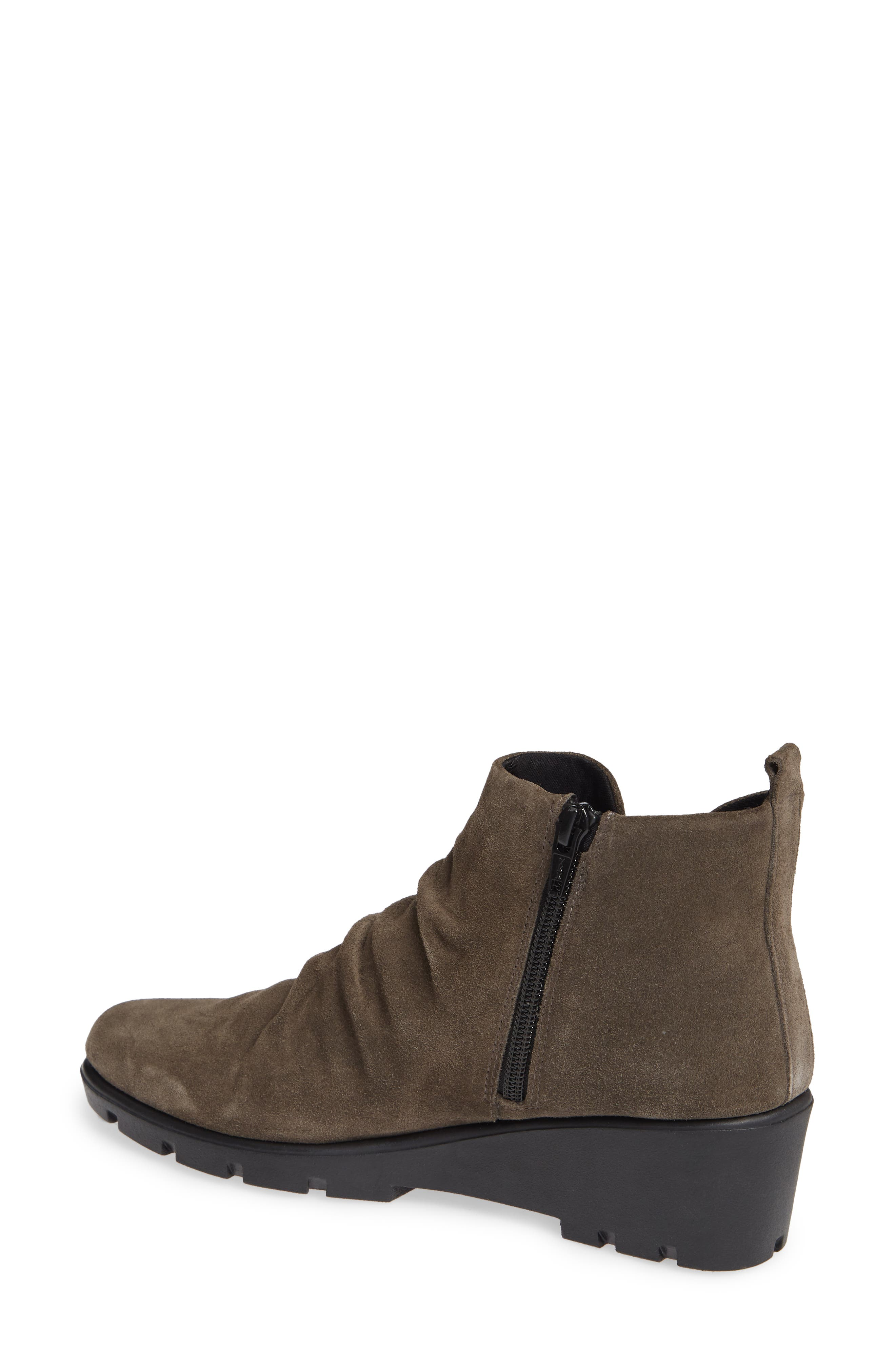 THE FLEXX, Slingshot Ankle Bootie, Alternate thumbnail 2, color, BROWN SUEDE