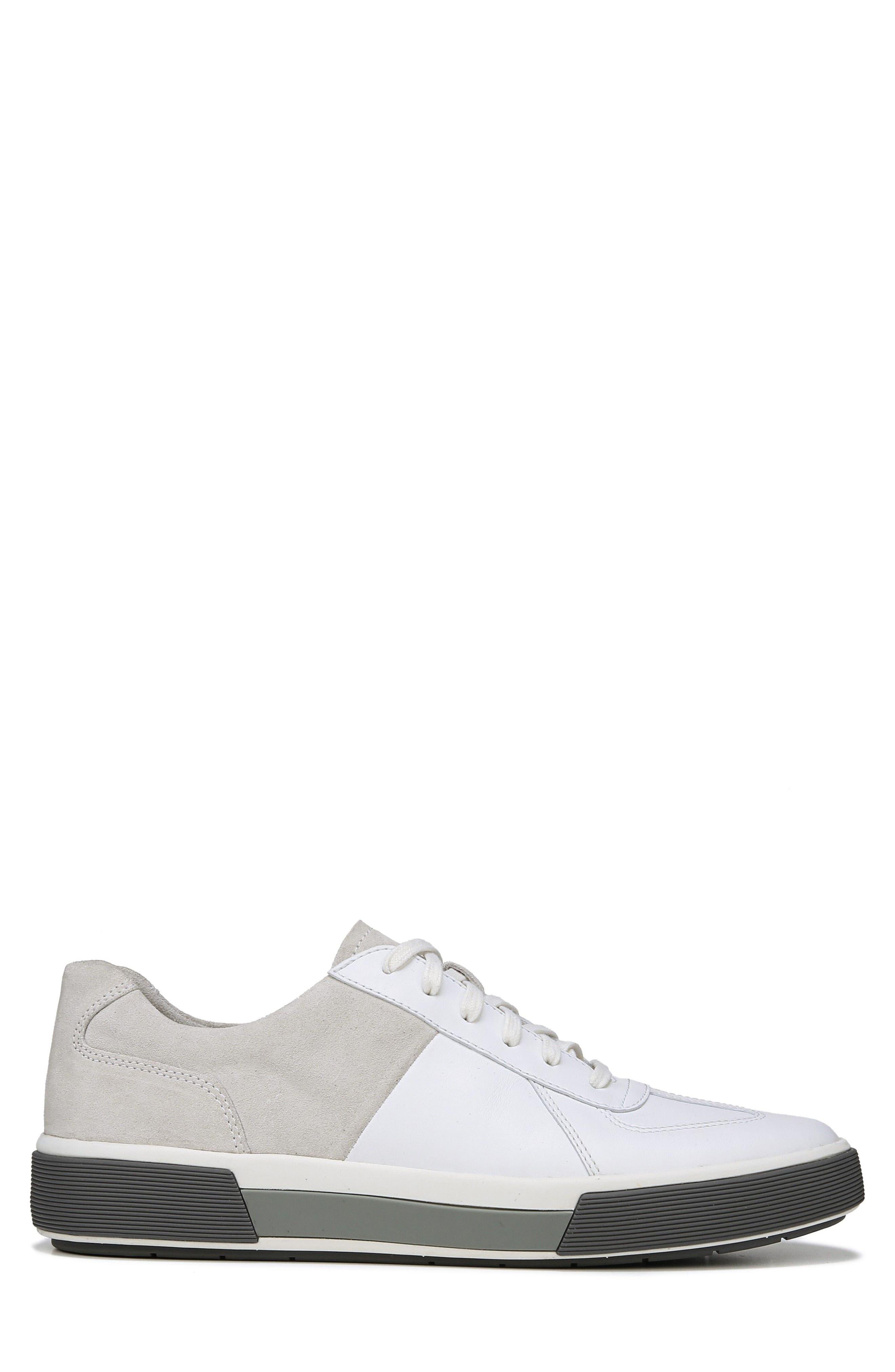 VINCE, Rogue Low Top Sneaker, Alternate thumbnail 3, color, WHITE/ HORCHATA