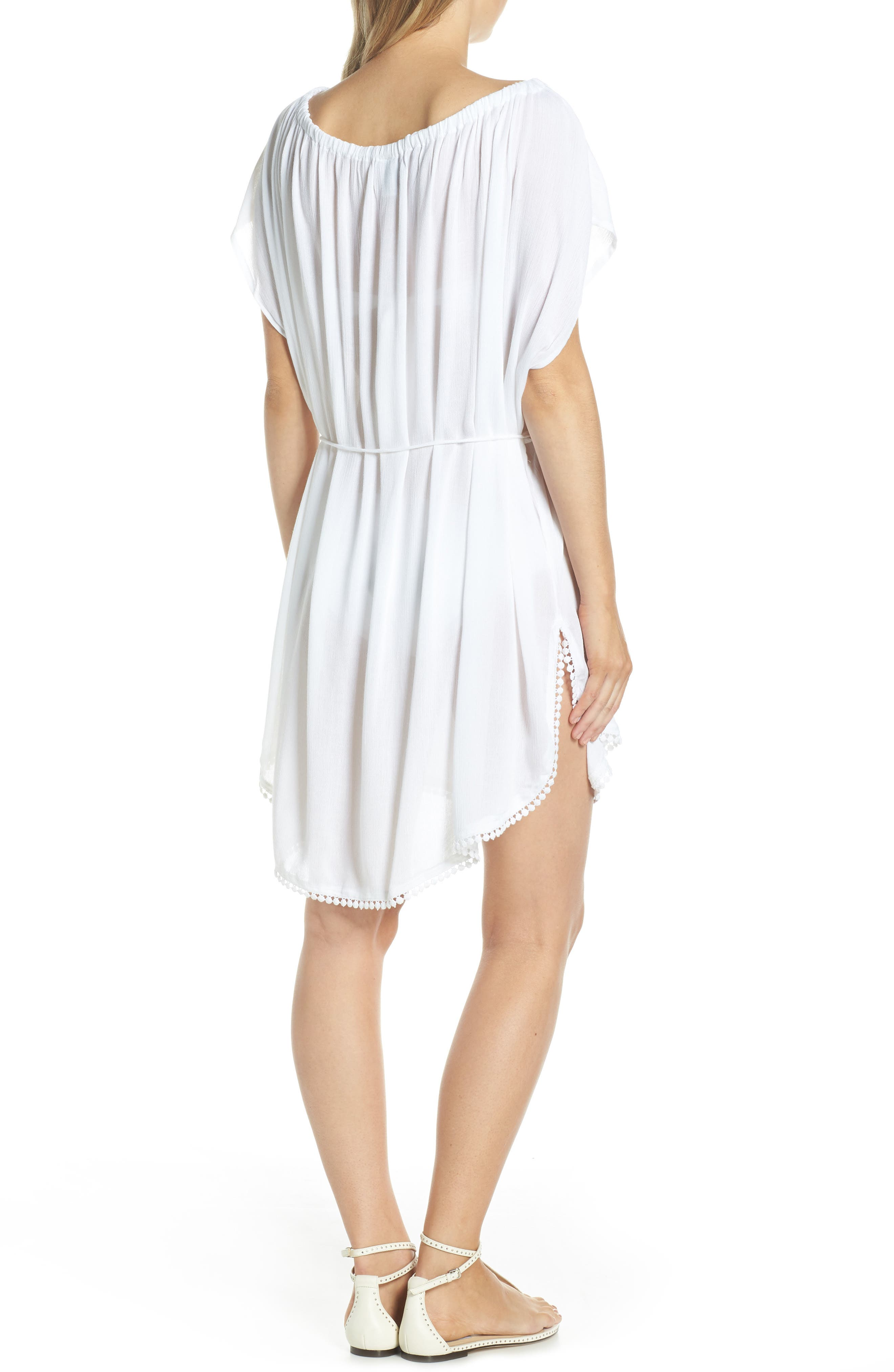 ECHO, Seaside Cover-Up Dress, Alternate thumbnail 2, color, WHITE