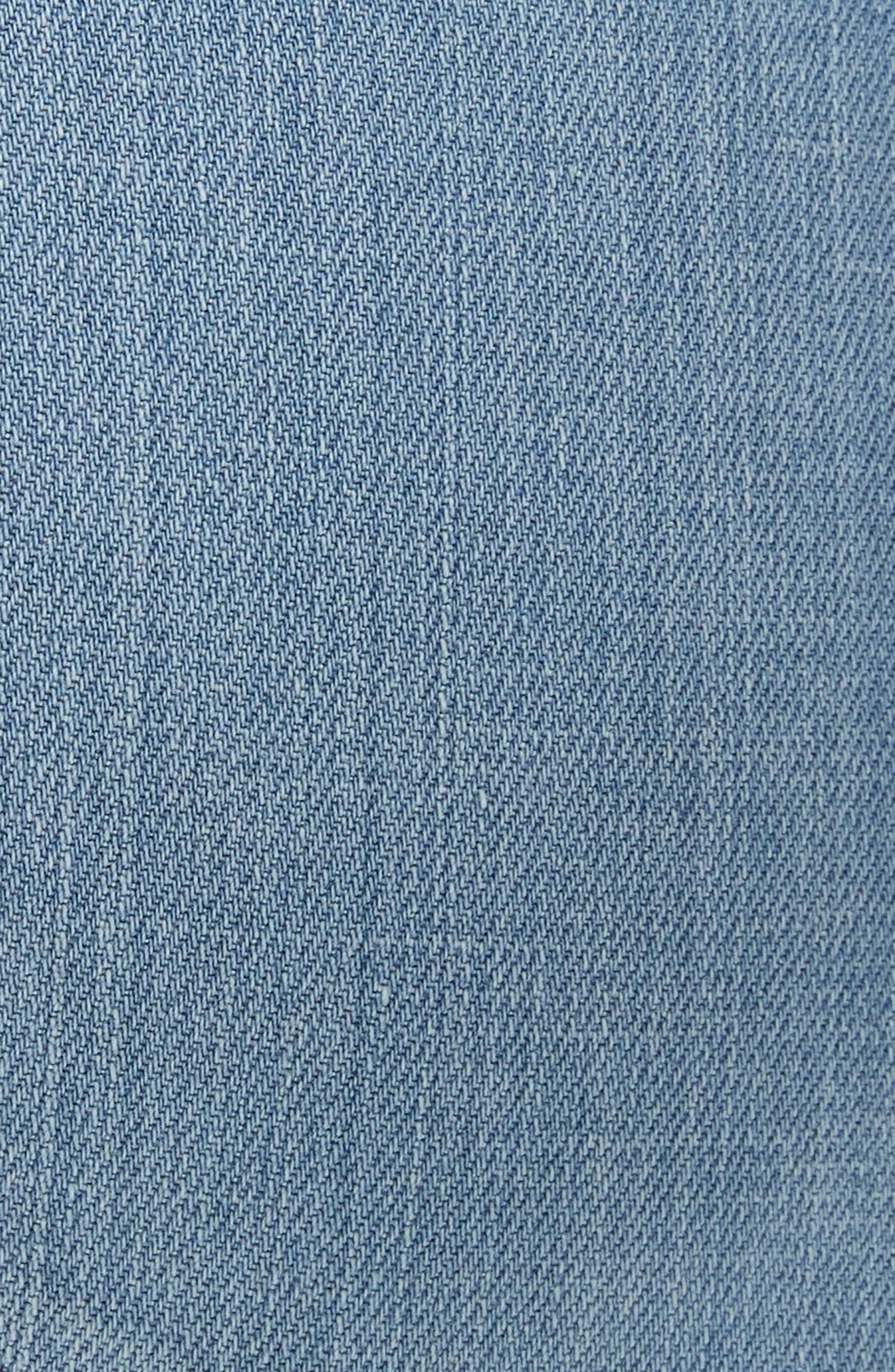 EILEEN FISHER, Organic Cotton Boyfriend Jeans, Alternate thumbnail 6, color, ICE BLUE