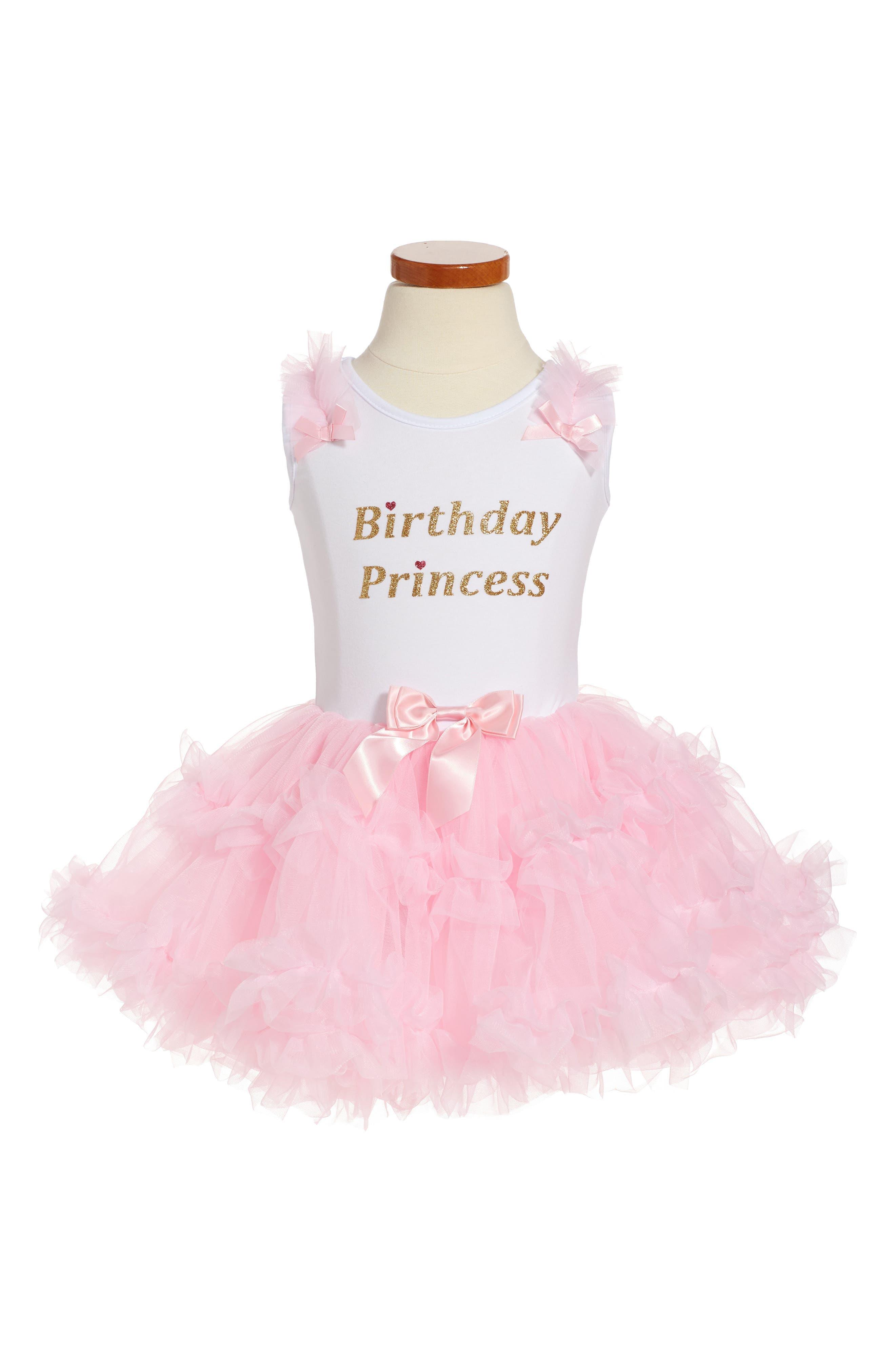 POPATU Birthday Princess Tutu Dress, Main, color, PINK