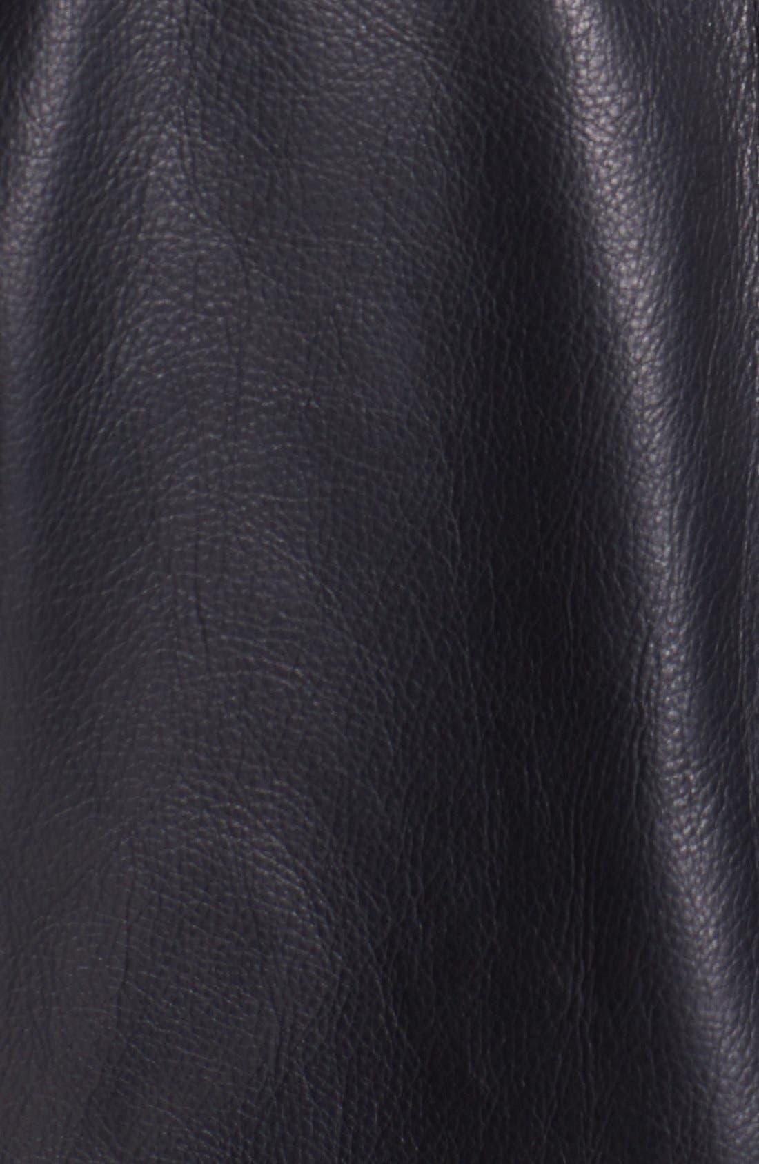 BILLY REID, Leather Flight Jacket, Alternate thumbnail 2, color, 001