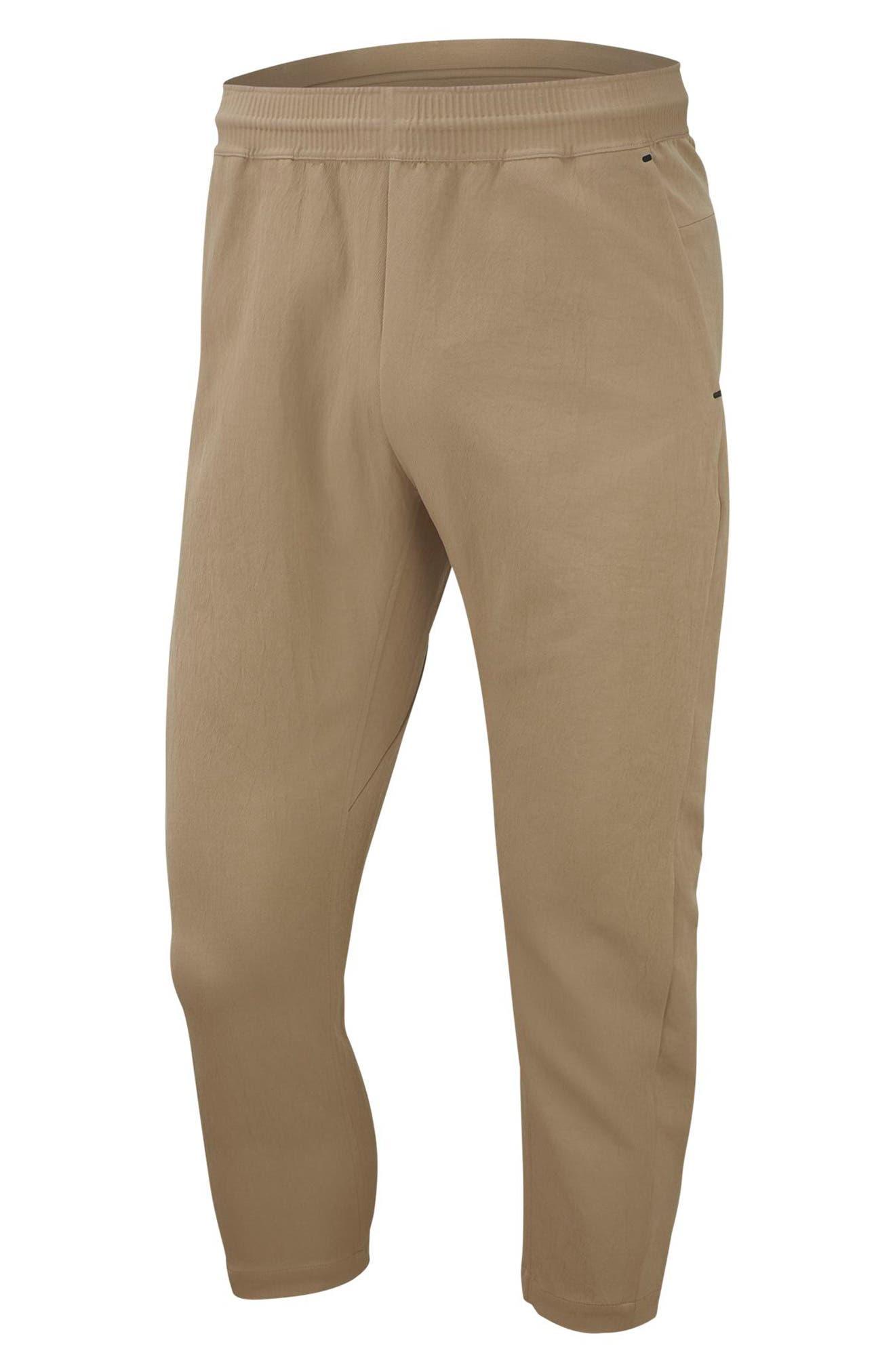 NIKE, Sportswear Tech Pack Men's Crop Woven Pants, Alternate thumbnail 6, color, KHAKI/ KHAKI/ BLACK