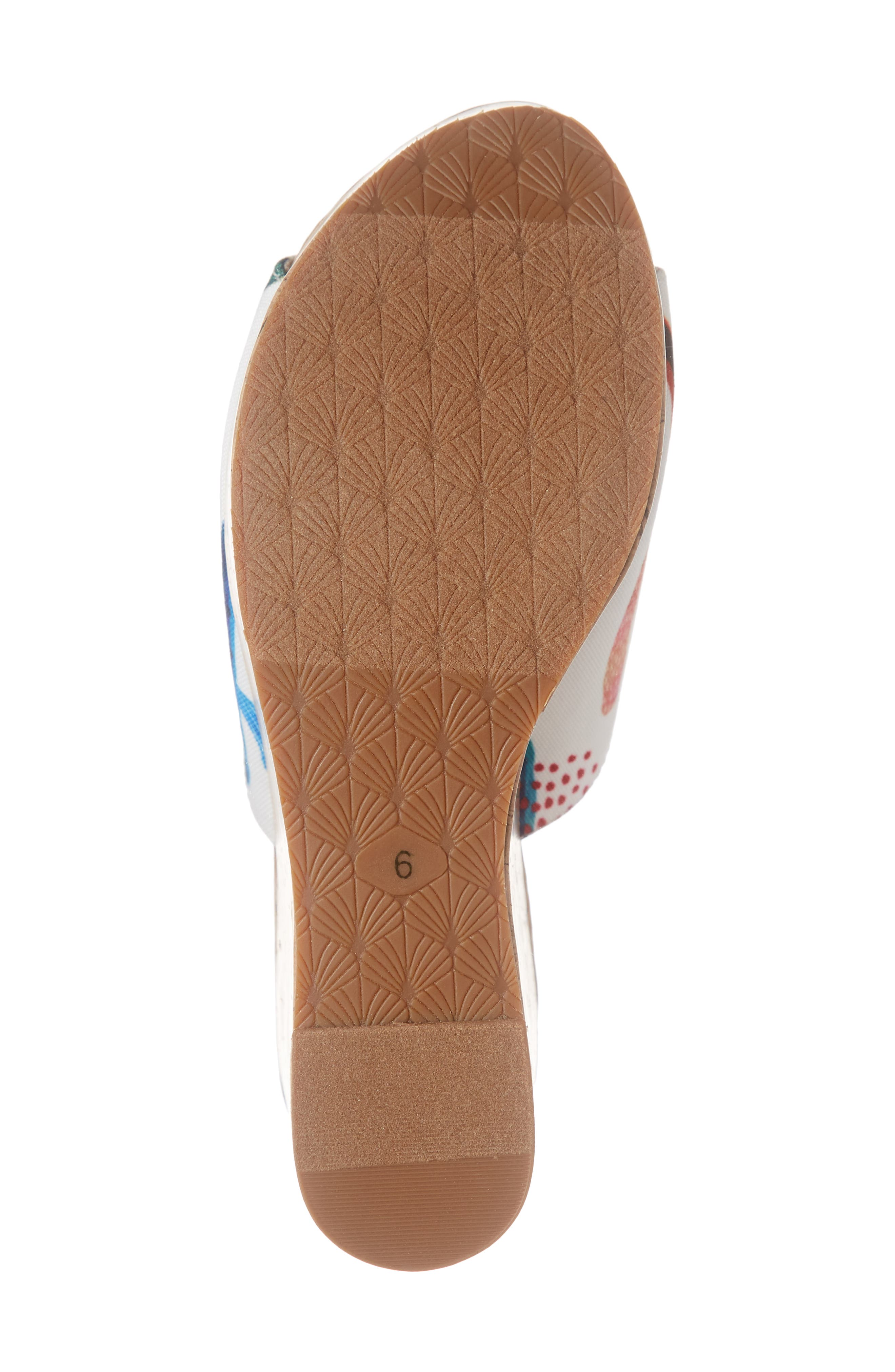 ARIAT, Layla Wedge Slide Sandal, Alternate thumbnail 6, color, CACTUS PRINT FABRIC