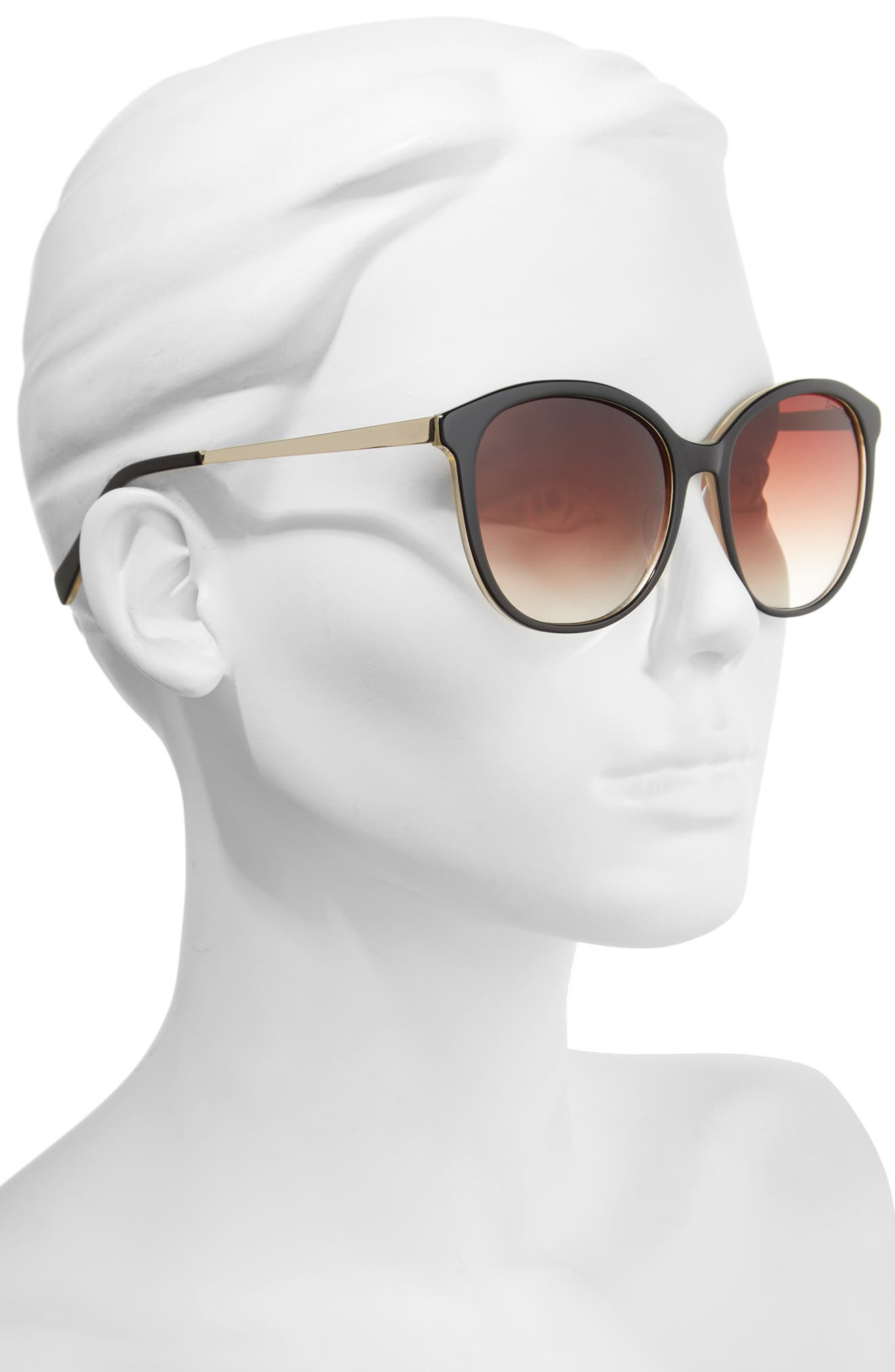 DRAPER JAMES, 56mm Gradient Lens Sunglasses, Alternate thumbnail 2, color, 001
