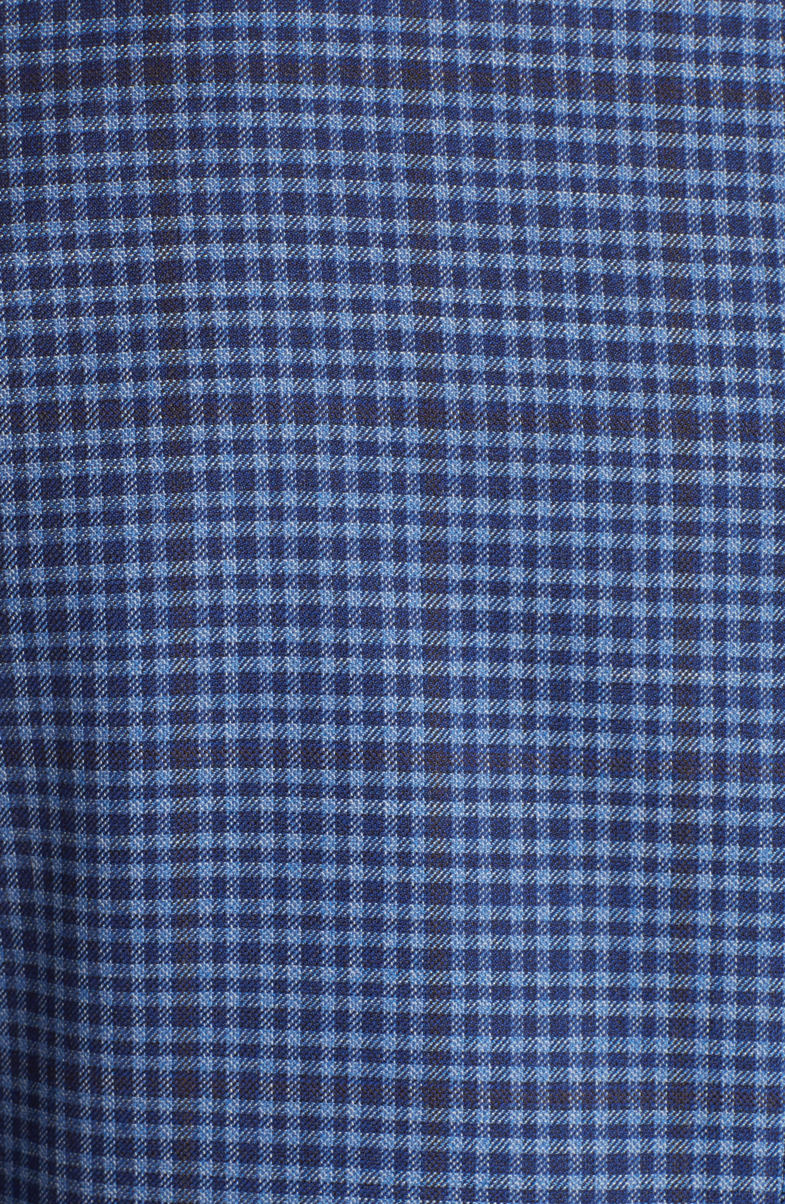CANALI, Kei Classic Fit Check Wool Sport Coat, Alternate thumbnail 6, color, BLUE