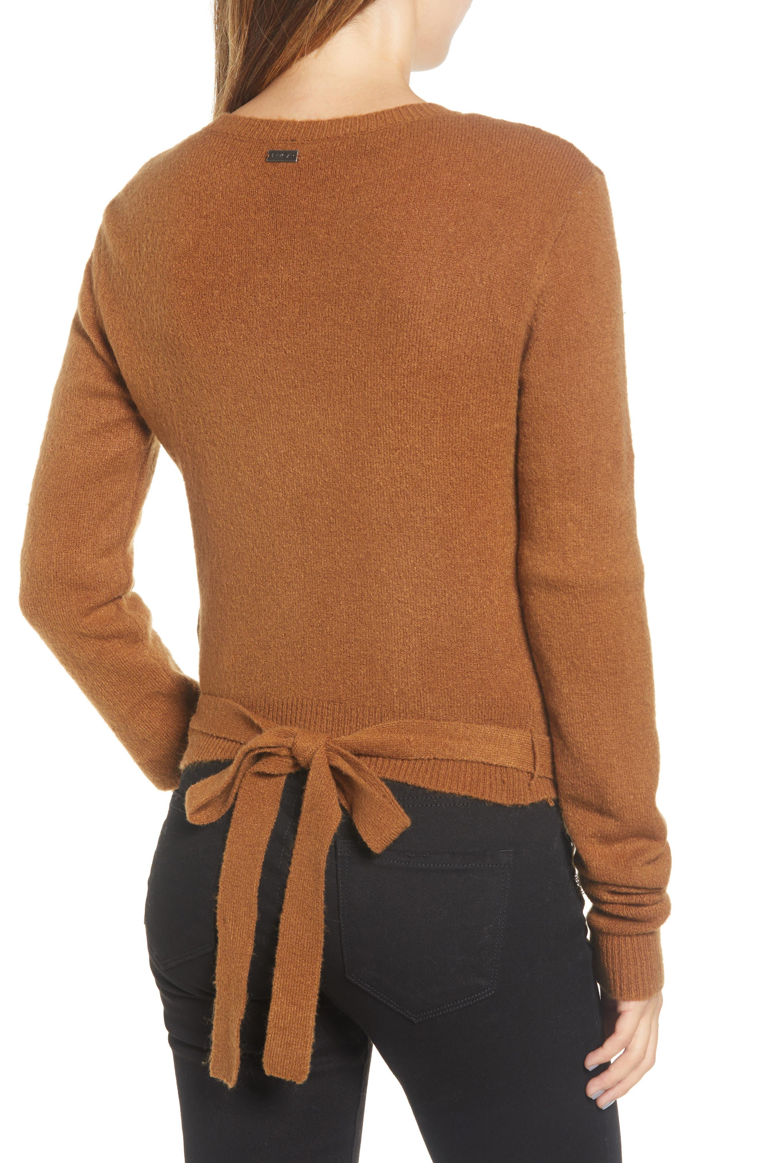RVCA, The Fuz Wrap Sweater, Alternate thumbnail 2, color, 200
