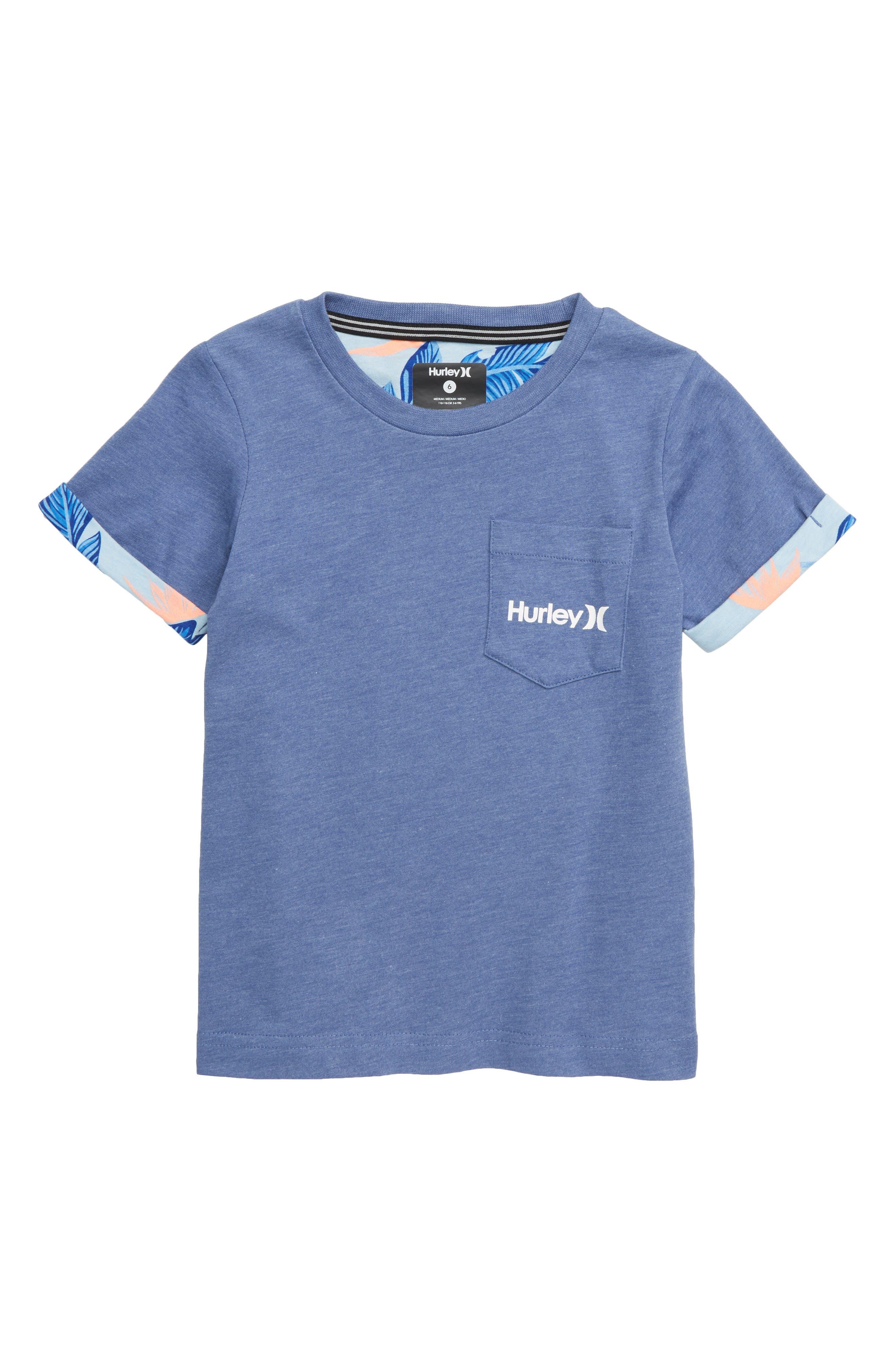HURLEY, Paradise Roll Cuff T-Shirt, Main thumbnail 1, color, 463