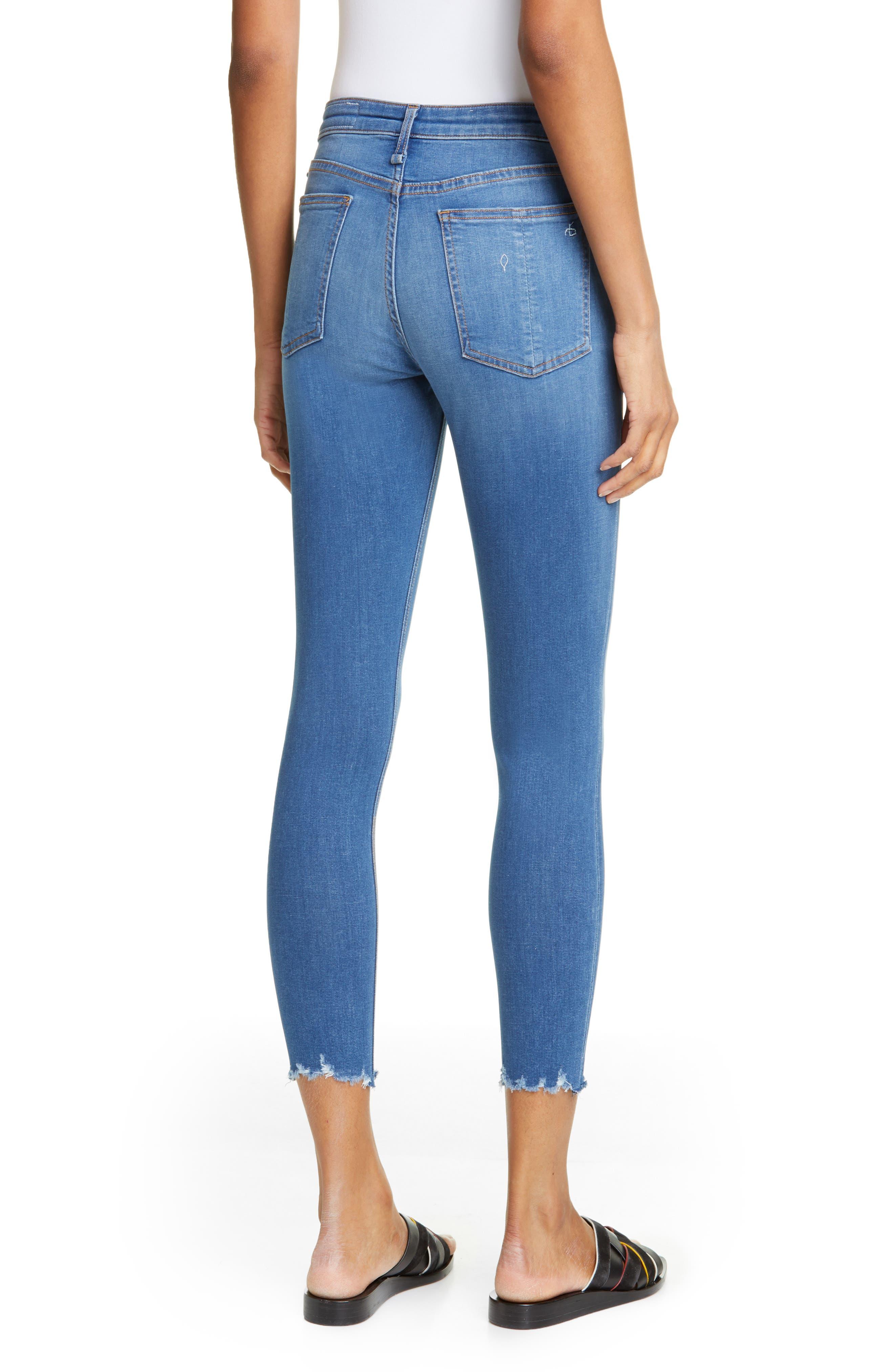 RAG & BONE, Cate High Waist Ankle Skinny Jeans, Alternate thumbnail 2, color, FLINT