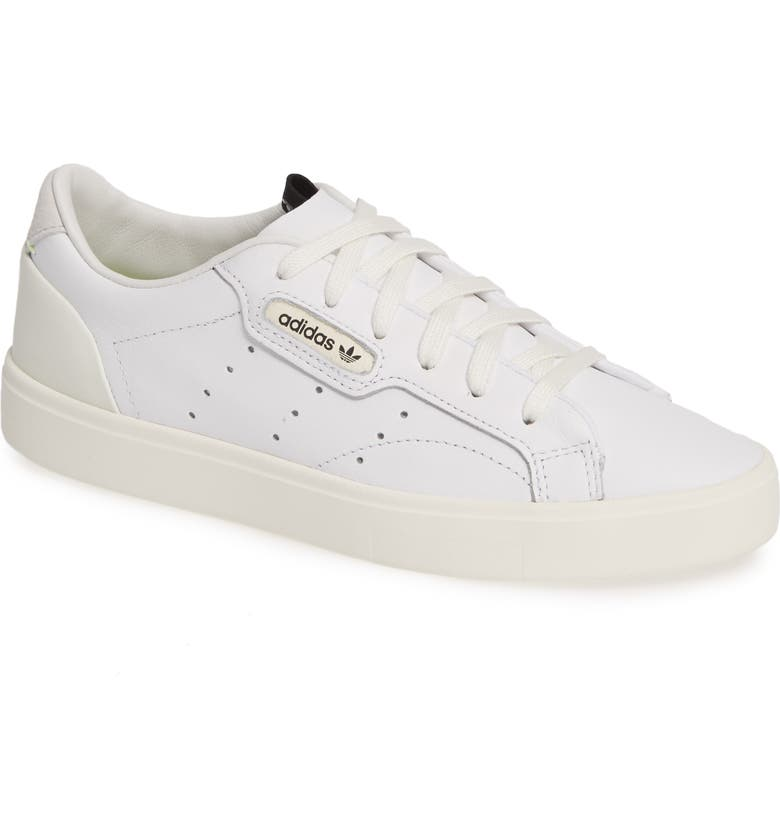 huge selection of e4c8d ae7a7 ADIDAS Sleek Leather Sneaker, Main, color, WHITE  OFF WHITE  CRYSTAL