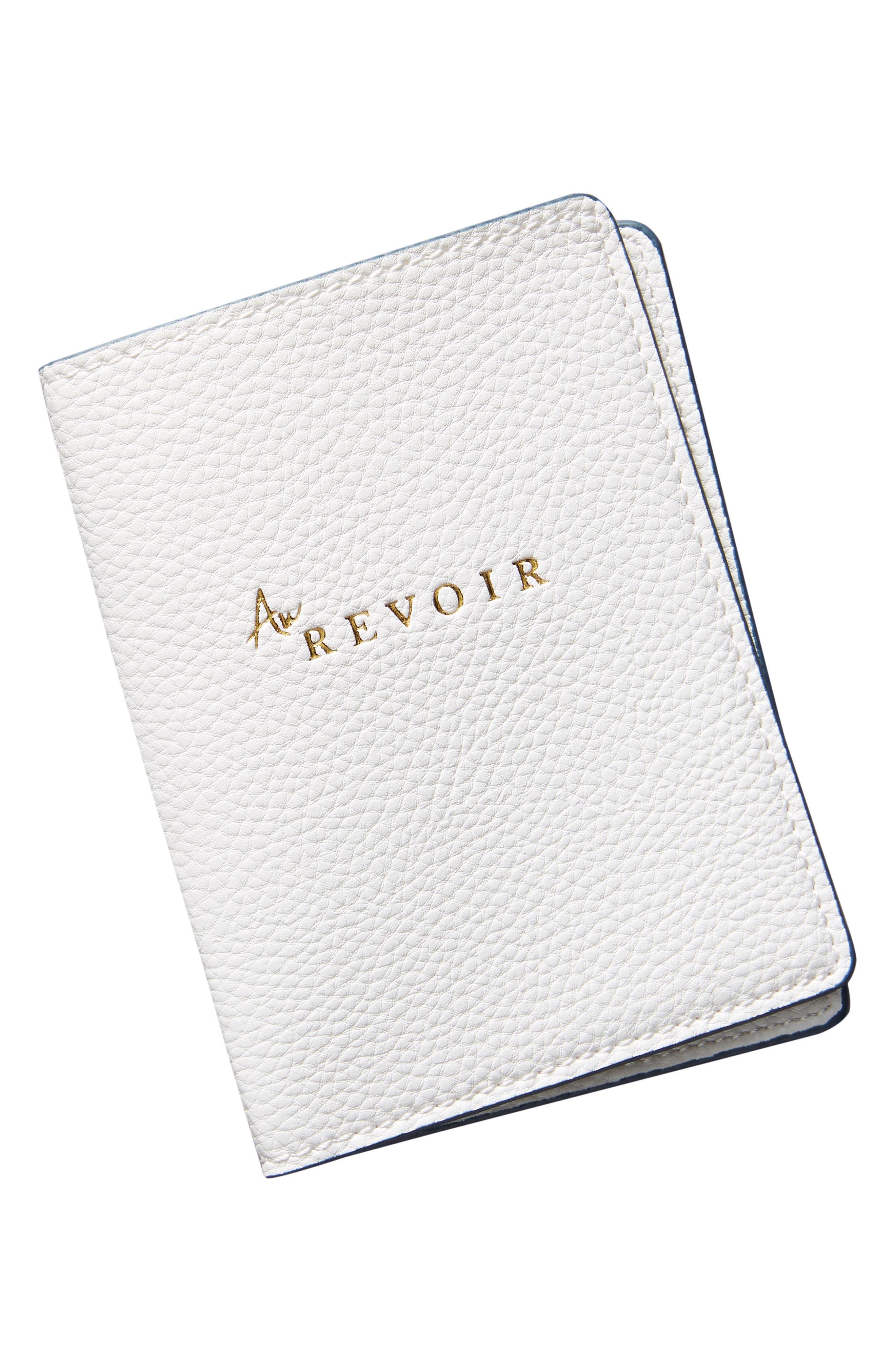 ANTHROPOLOGIE, Au Revoir Passport Holder, Alternate thumbnail 3, color, WHITE