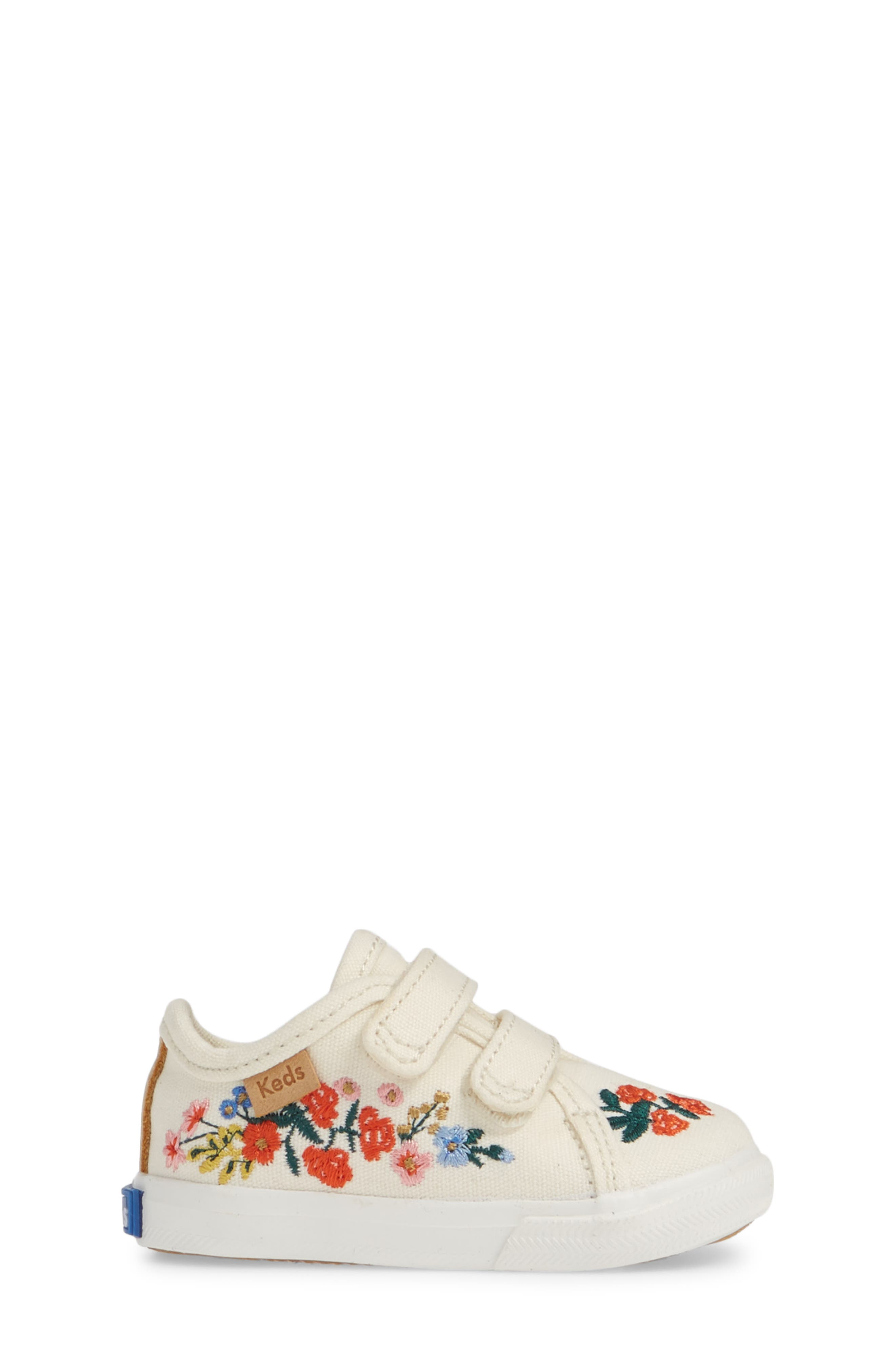 KEDS<SUP>®</SUP>, x Rifle Paper Co. Double Up Crib Shoe, Alternate thumbnail 3, color, VINES