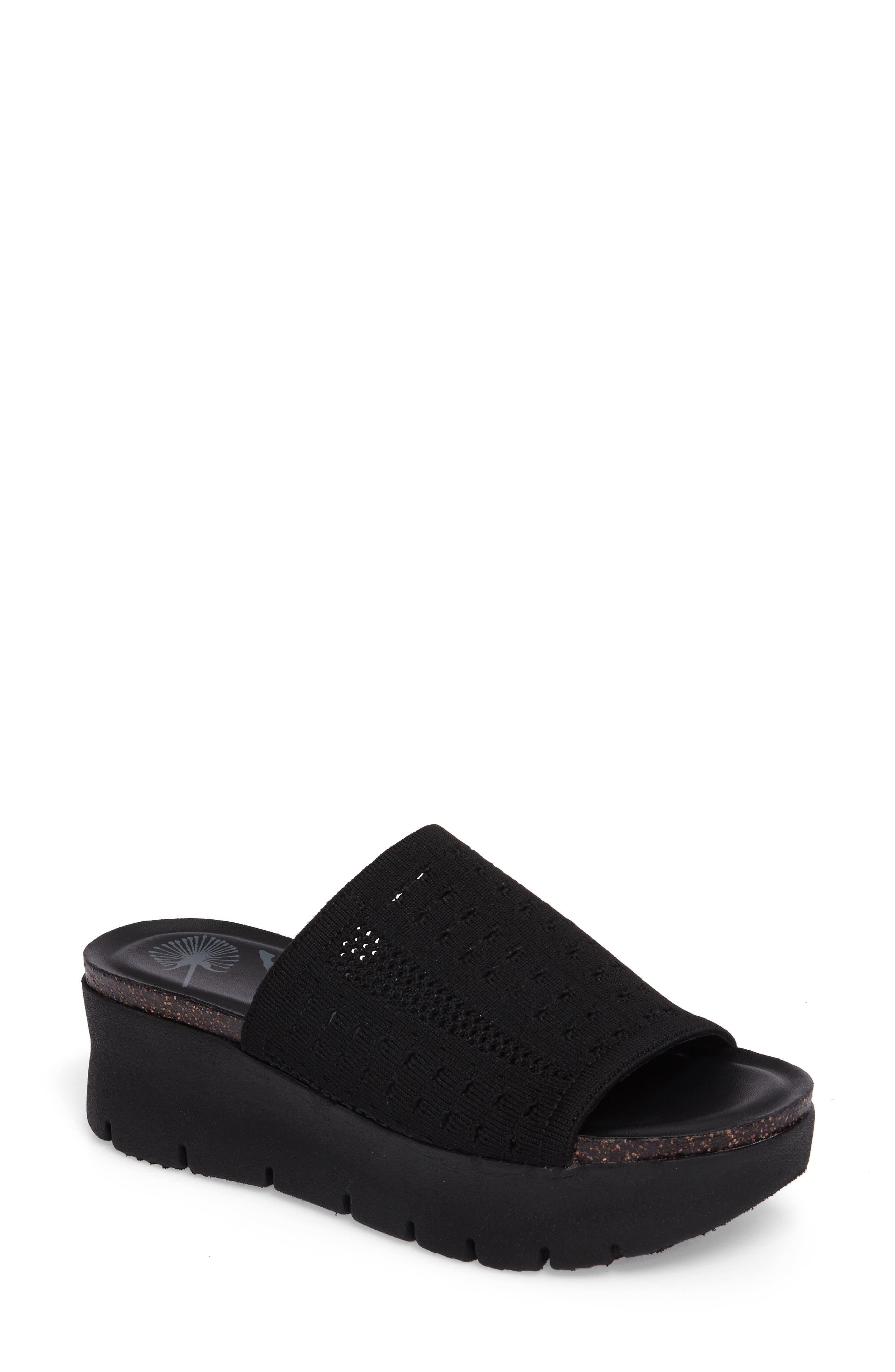 OTBT Gravity Slide Sandal, Main, color, BLACK FABRIC