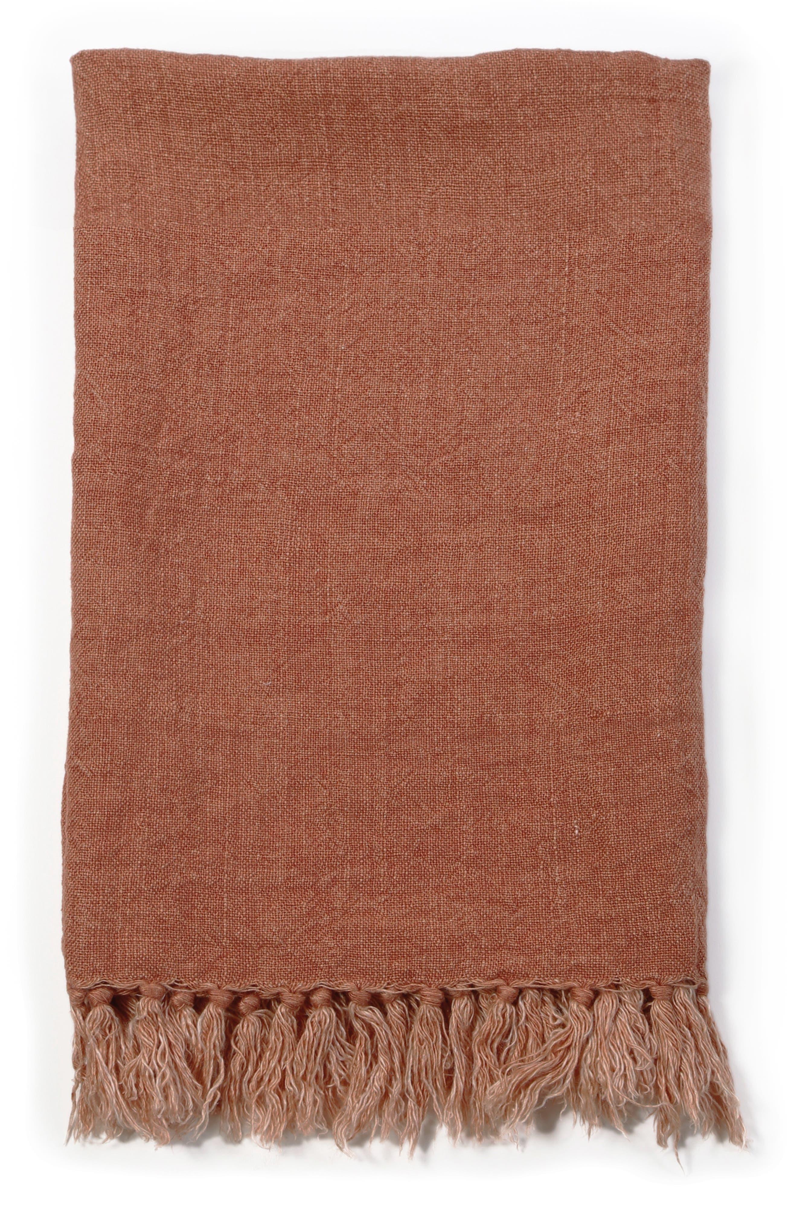 POM POM AT HOME Montauk Blanket, Main, color, TERRA COTTA