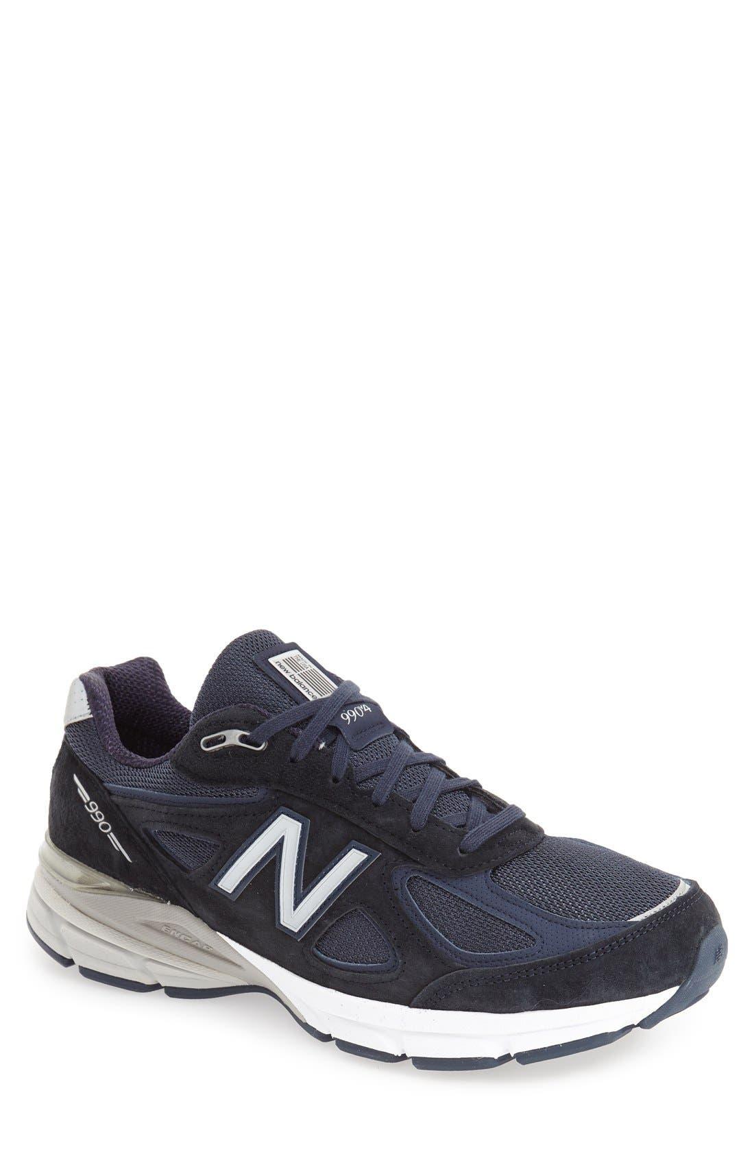 NEW BALANCE, '990' Running Shoe, Main thumbnail 1, color, NAVY