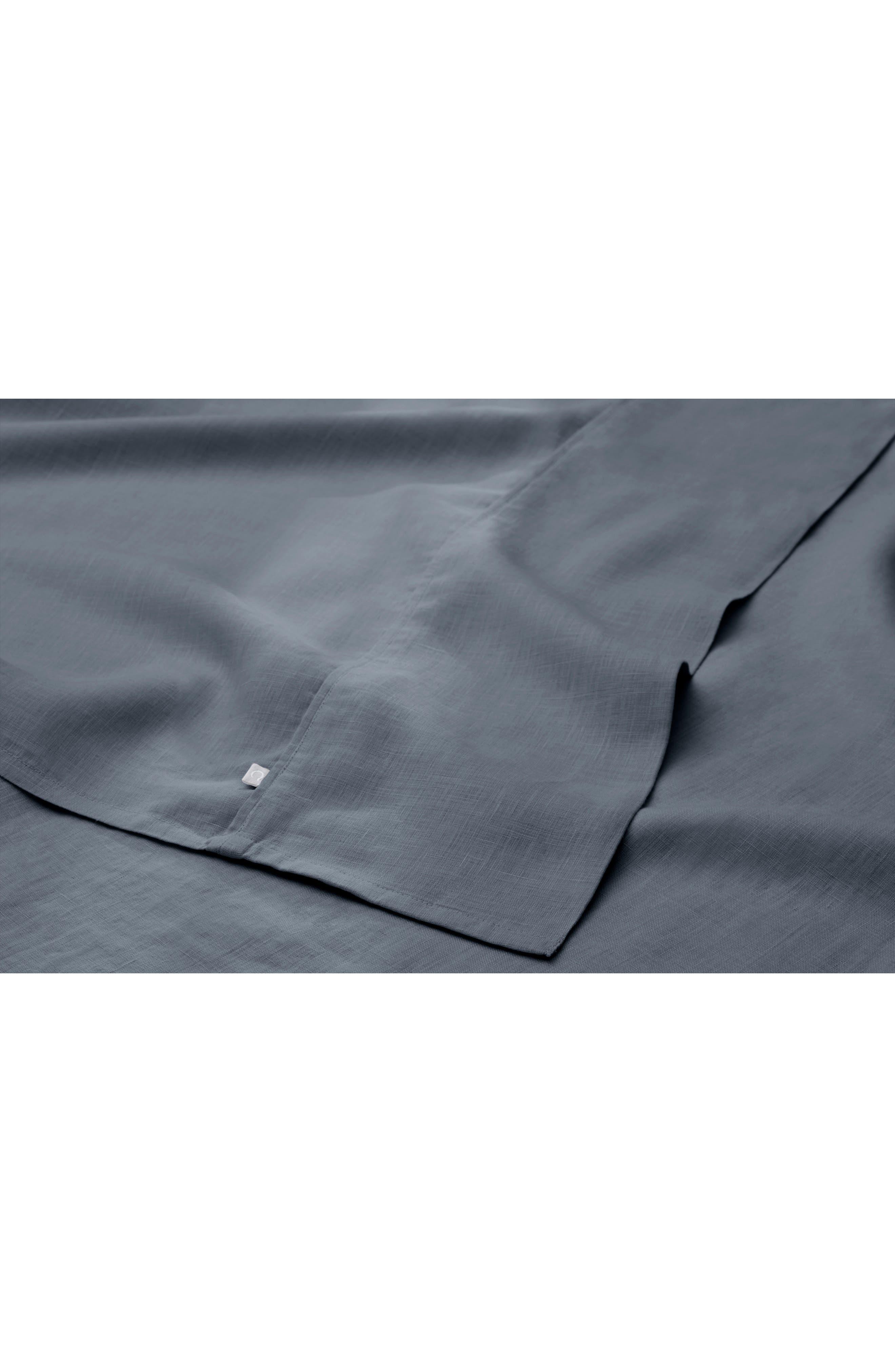 CASPER, The Linen Pillow Case Set, Alternate thumbnail 2, color, CHARCOAL