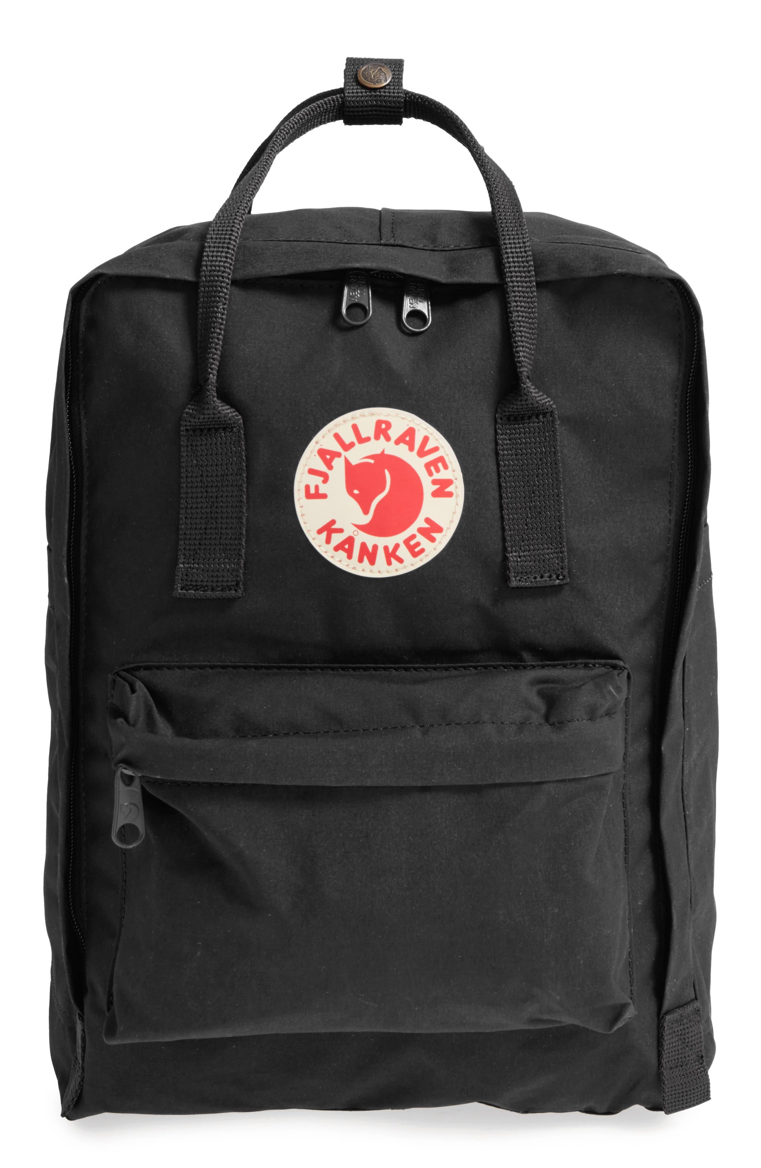 FJÄLLRÄVEN, 'Kånken' Laptop Backpack, Alternate thumbnail 6, color, BLACK
