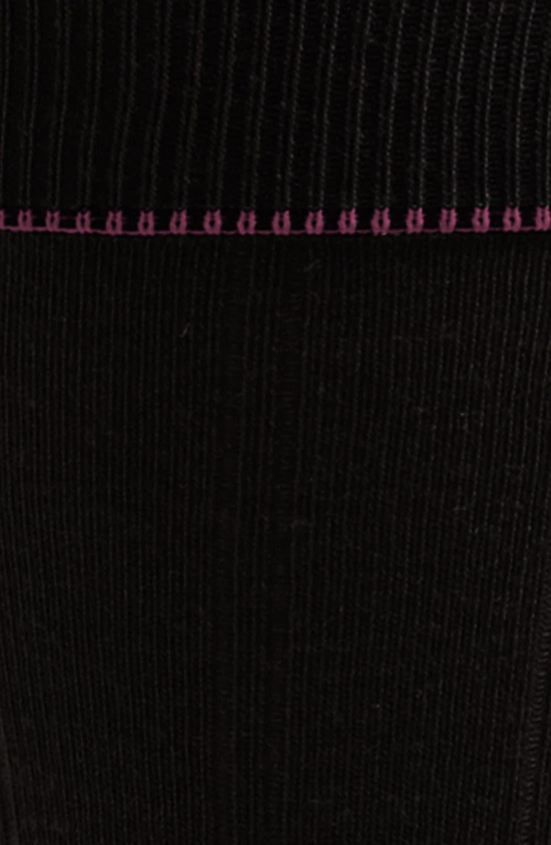 NORDSTROM MEN'S SHOP, Over the Calf Wool Socks, Alternate thumbnail 3, color, BLACK