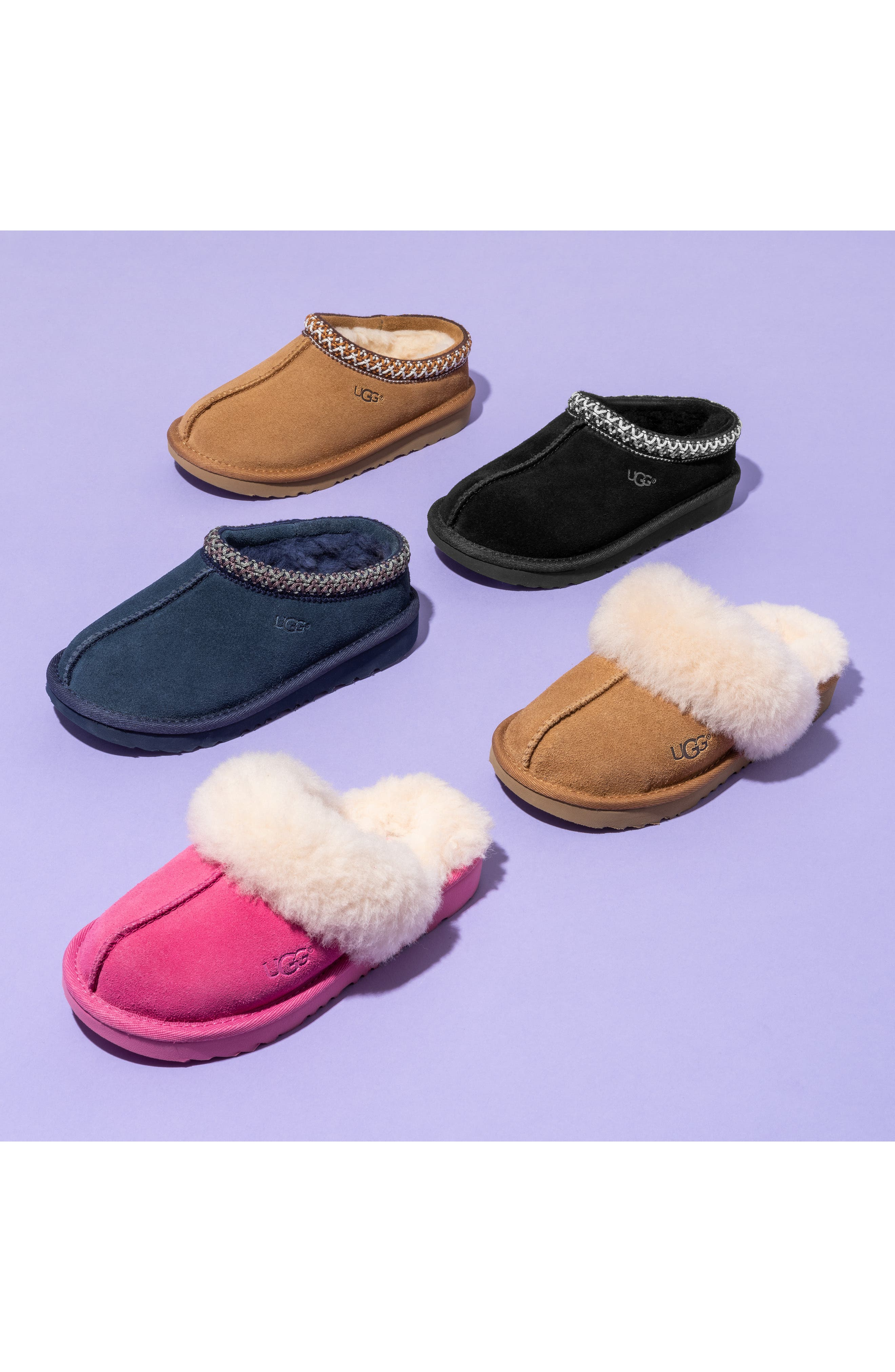 UGG<SUP>®</SUP>, K-Tasman II Embroidered Slipper, Alternate thumbnail 6, color, NEW NAVY