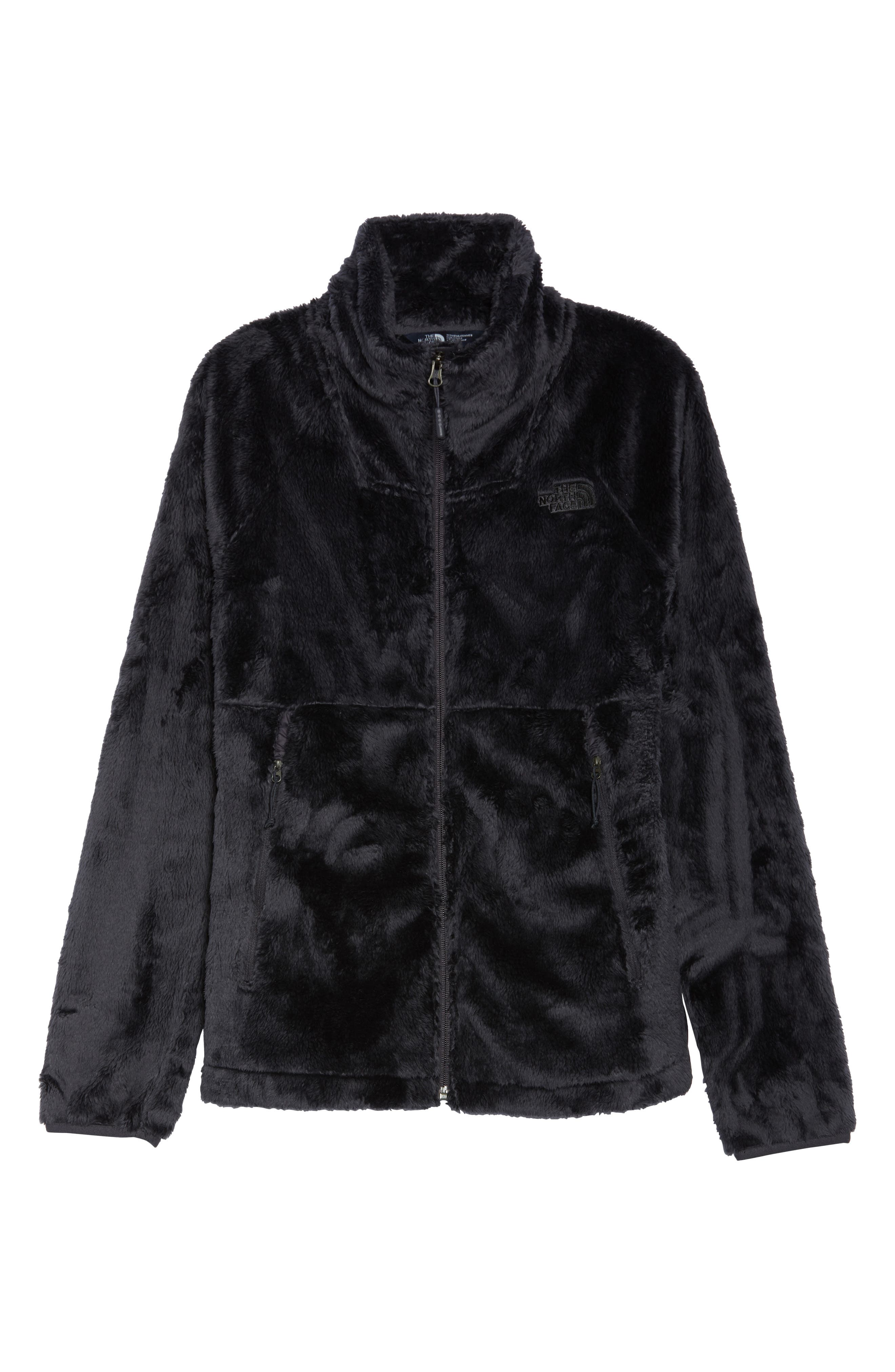 THE NORTH FACE, Osito Sport Hybrid Jacket, Alternate thumbnail 6, color, WEATHERED BLACK
