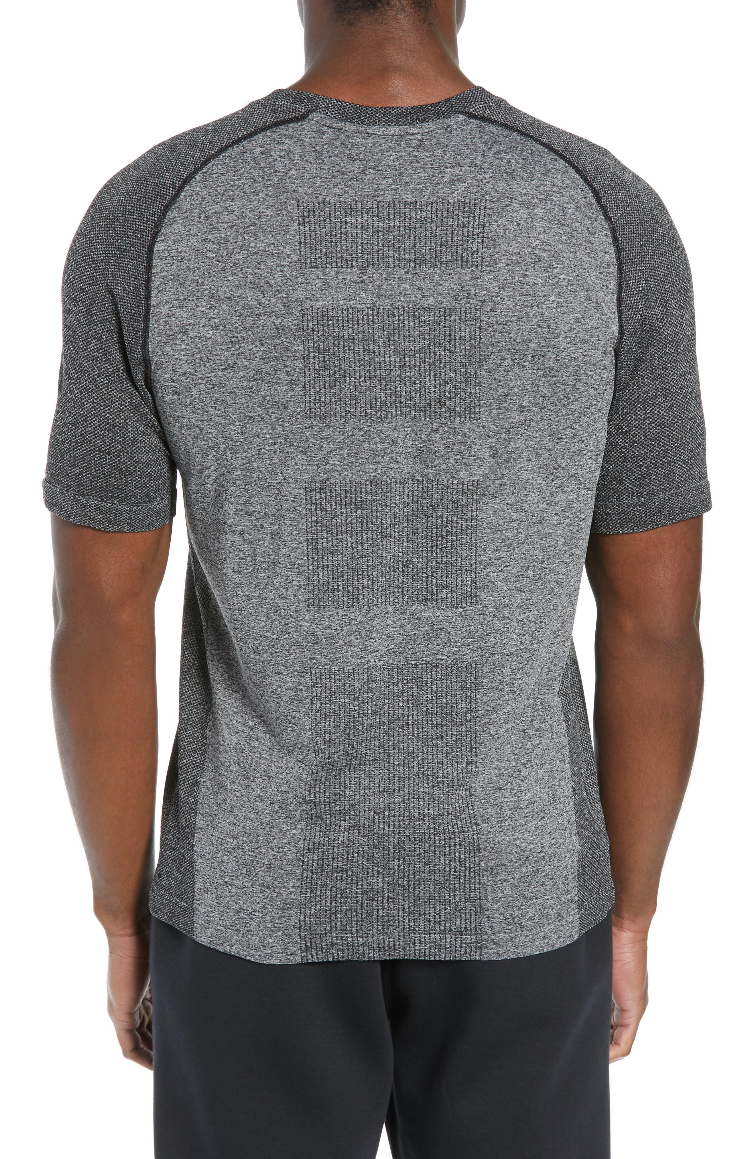 ZELLA, Seamless Raglan T-Shirt, Alternate thumbnail 2, color, BLACK OXIDE MELANGE