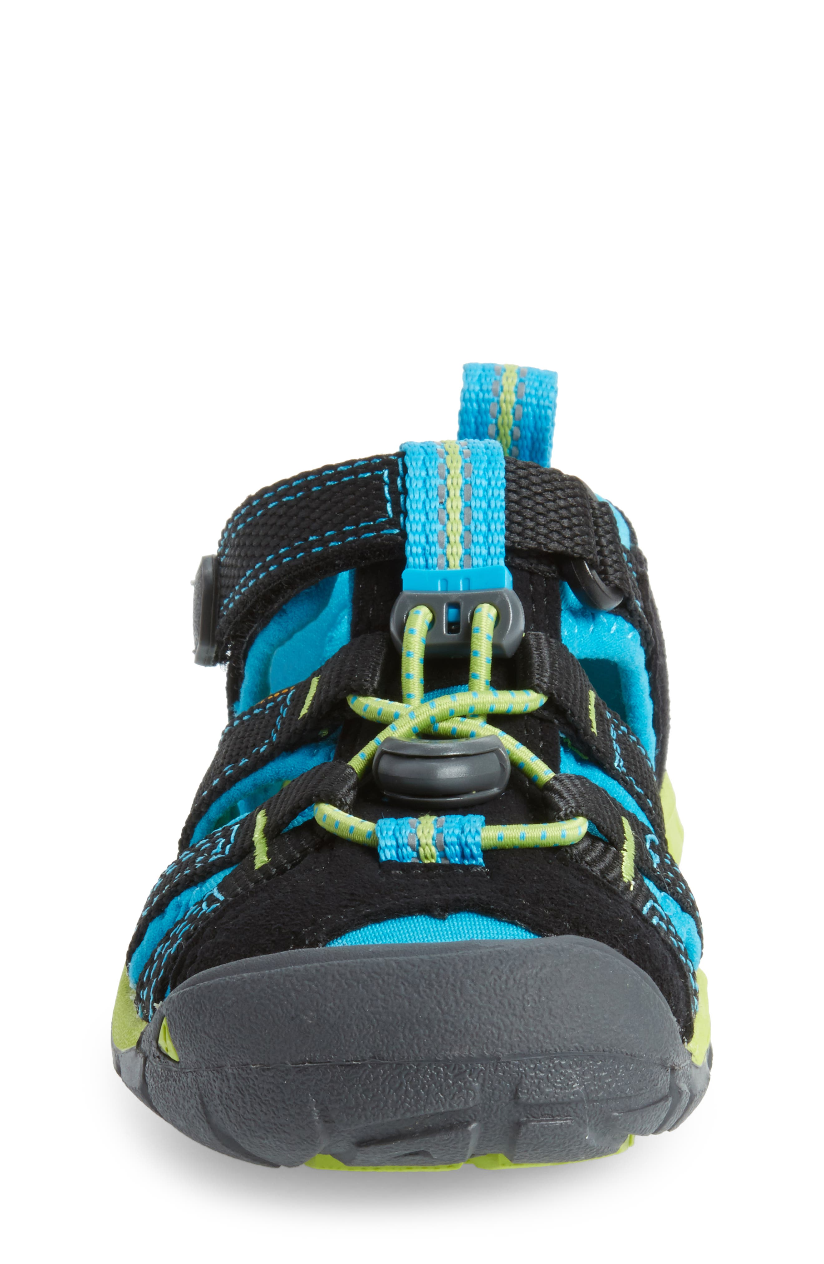 KEEN, 'Seacamp II' Water Friendly Sandal, Alternate thumbnail 4, color, BLACK/ BLUE DANUBE