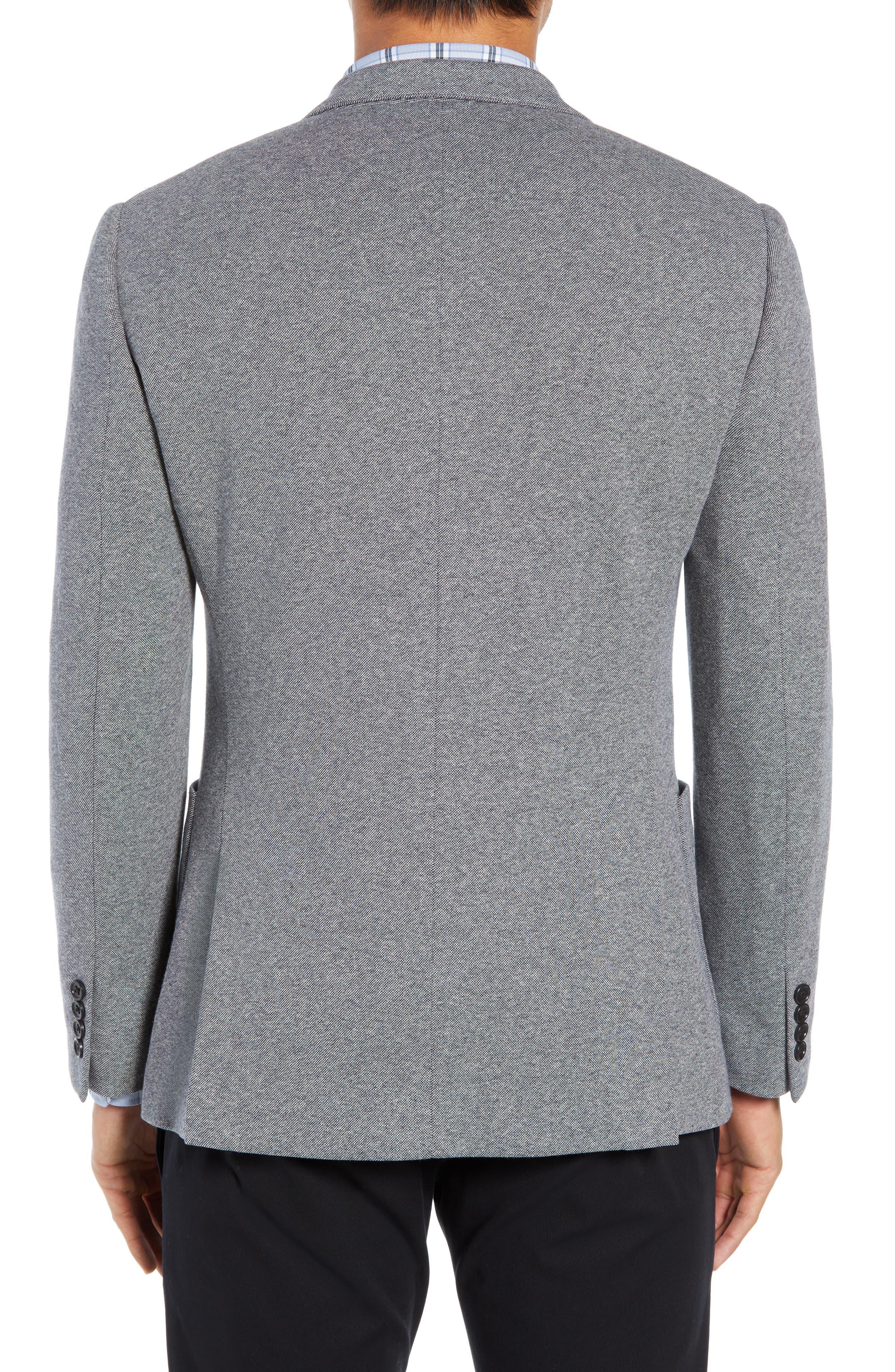 BONOBOS, Jetsetter Slim Fit Knit Cotton Sport Coat, Alternate thumbnail 2, color, LIGHT GREY