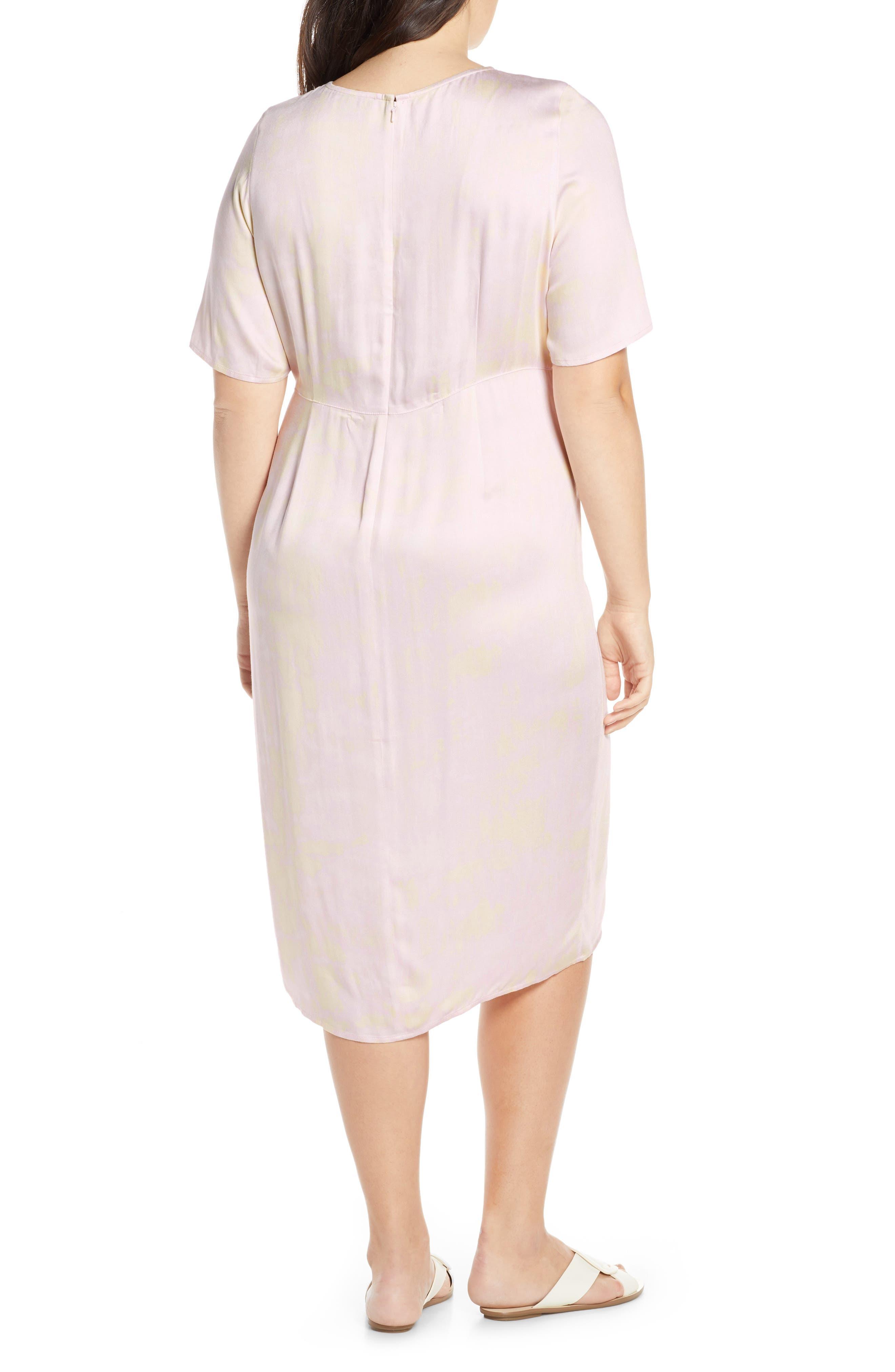 SOMETHING NAVY, Front Slit Midi Dress, Alternate thumbnail 10, color, 680