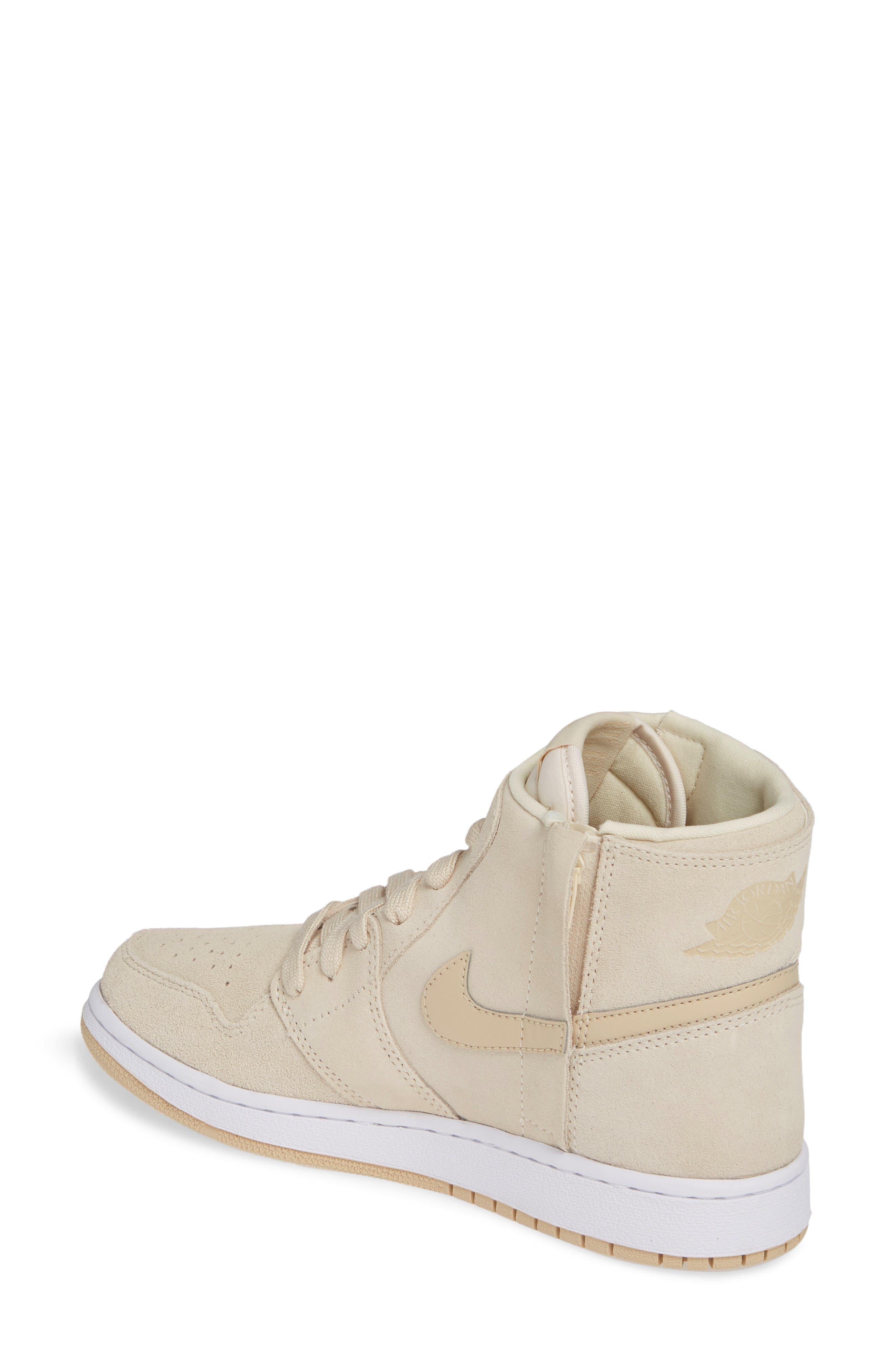 NIKE, Air Jordan 1 Rebel XX High Top Sneaker, Alternate thumbnail 2, color, LIGHT CREAM/ DESERT ORE/ WHITE