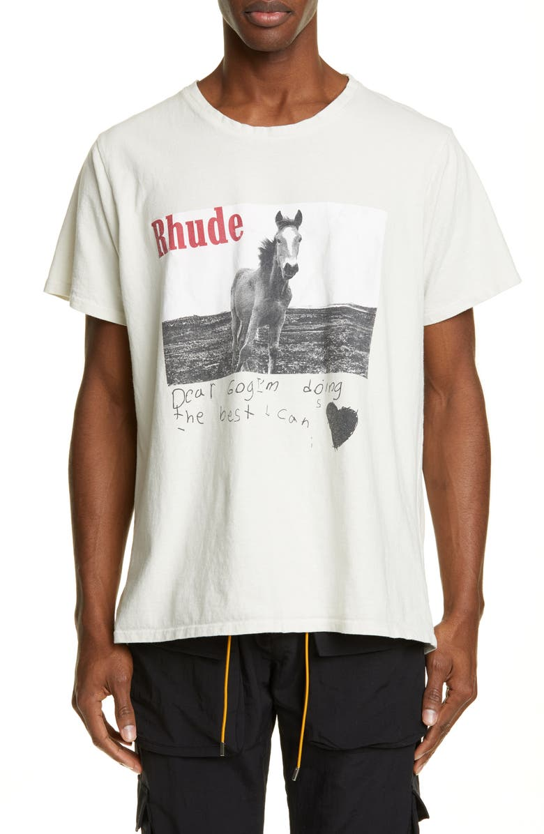 Rhude T-shirts HORSE GRAPHIC T-SHIRT