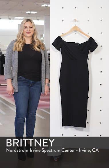 Off the Shoulder Wrap Midi Dress, sales video thumbnail