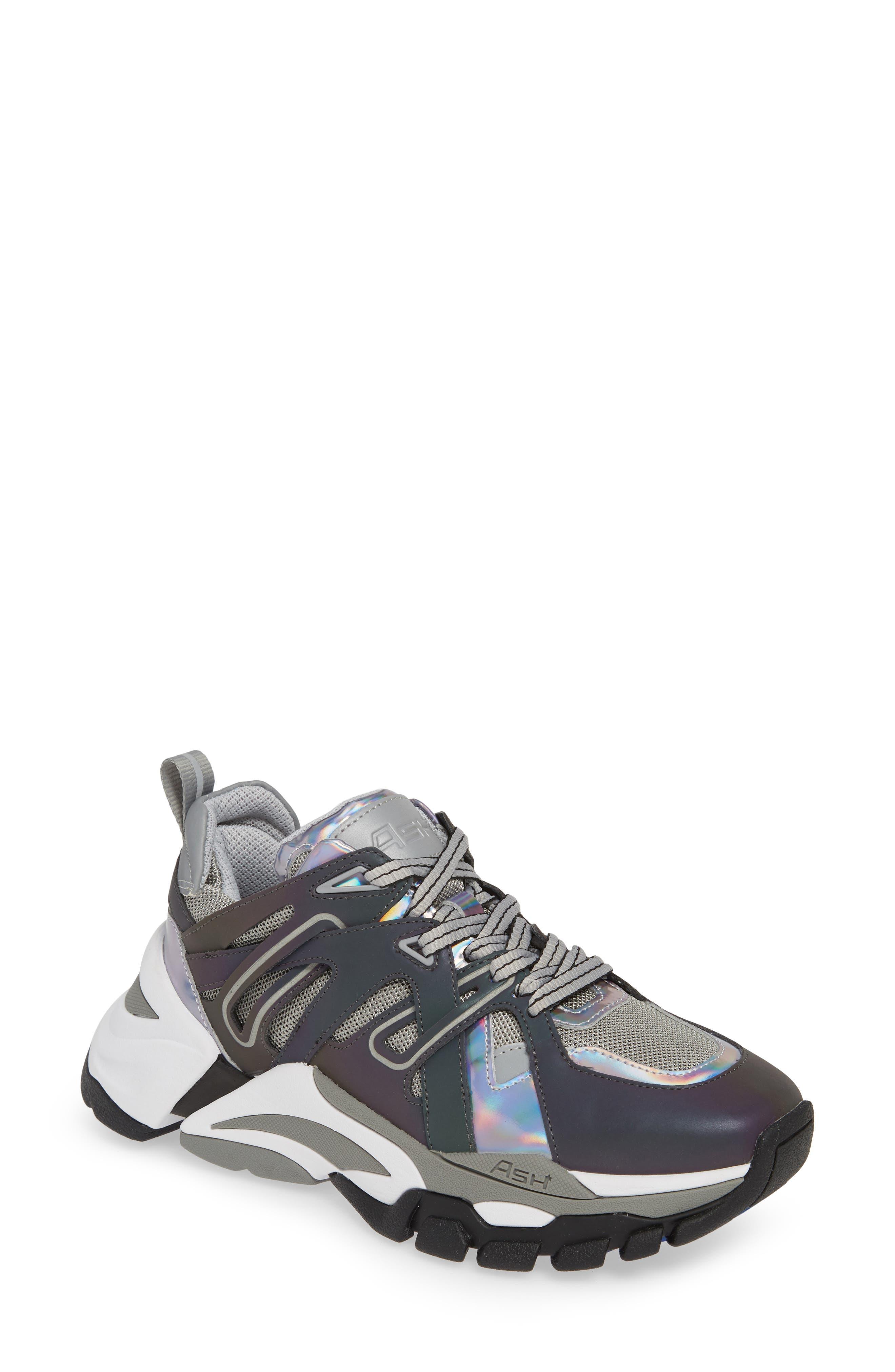 ASH Flash Sneaker, Main, color, GREY/ STROBE RAINBOW