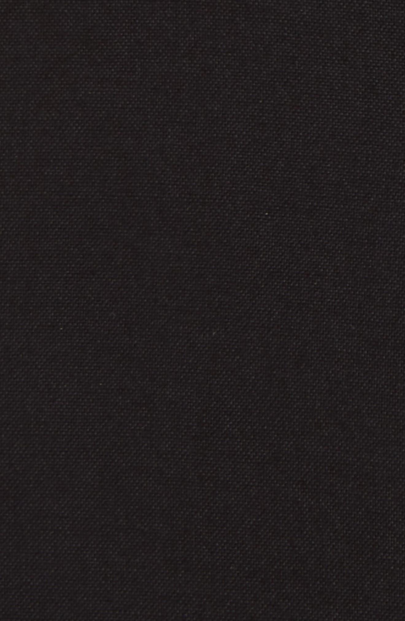 TOPMAN, Band Collar Shirt, Alternate thumbnail 4, color, 001